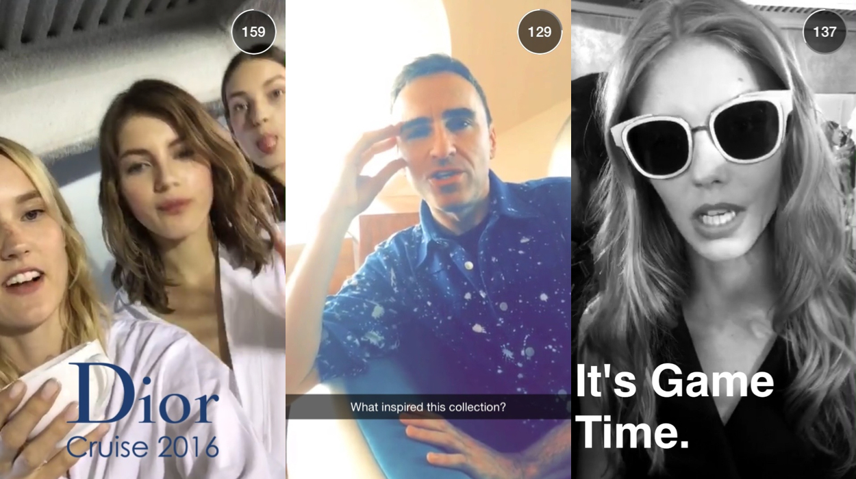 Christian Dior Gets Snappy on Snapchat