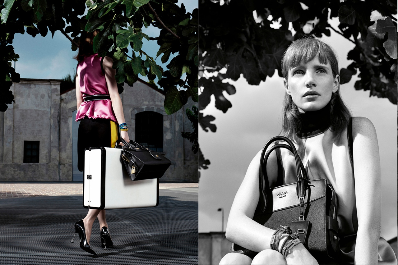 Jessica Chastain Appears In Prada Resort 2019 Ad Campaign