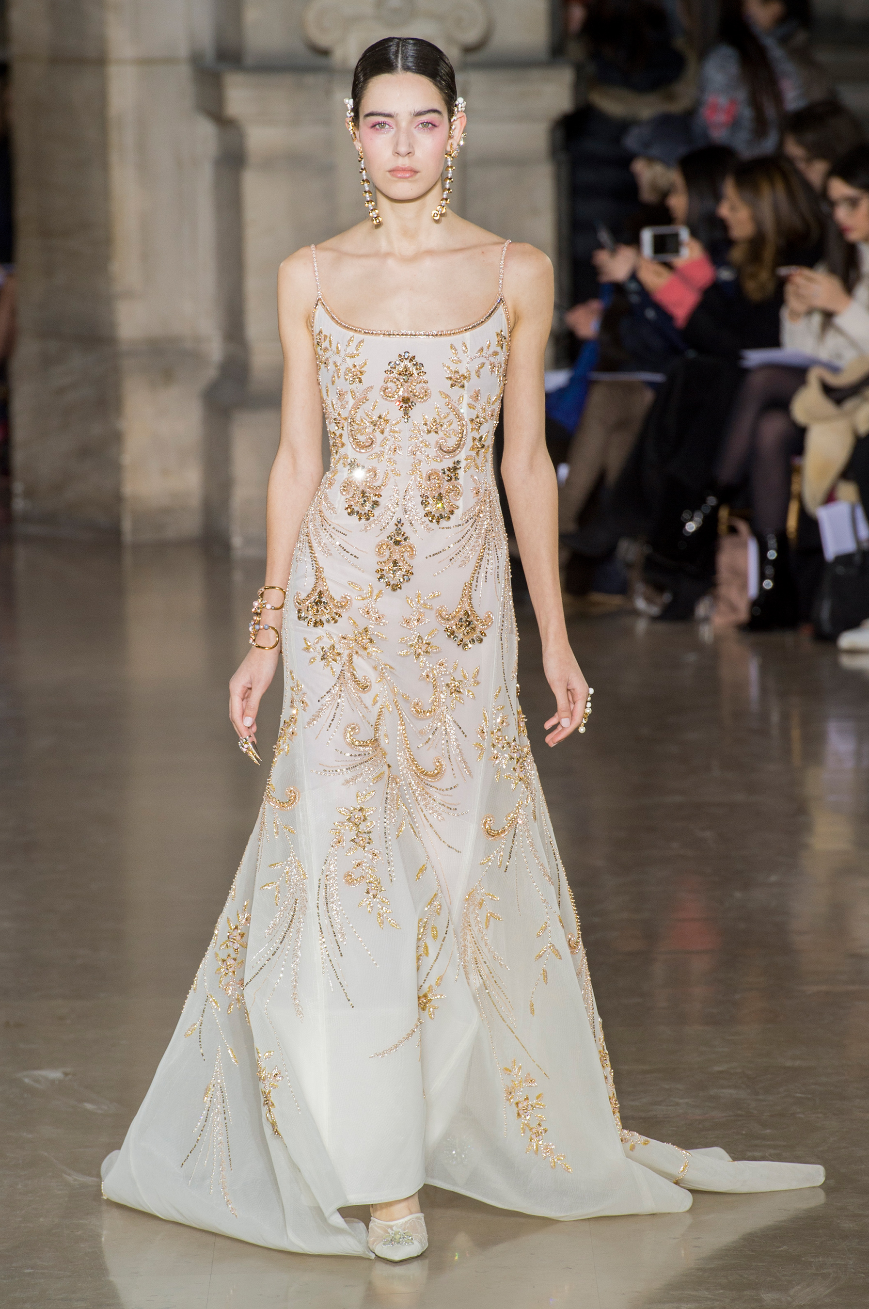 2017 05 fashion jersey dress - Georges Hobeika Spring 2017 Couture Fashion Show