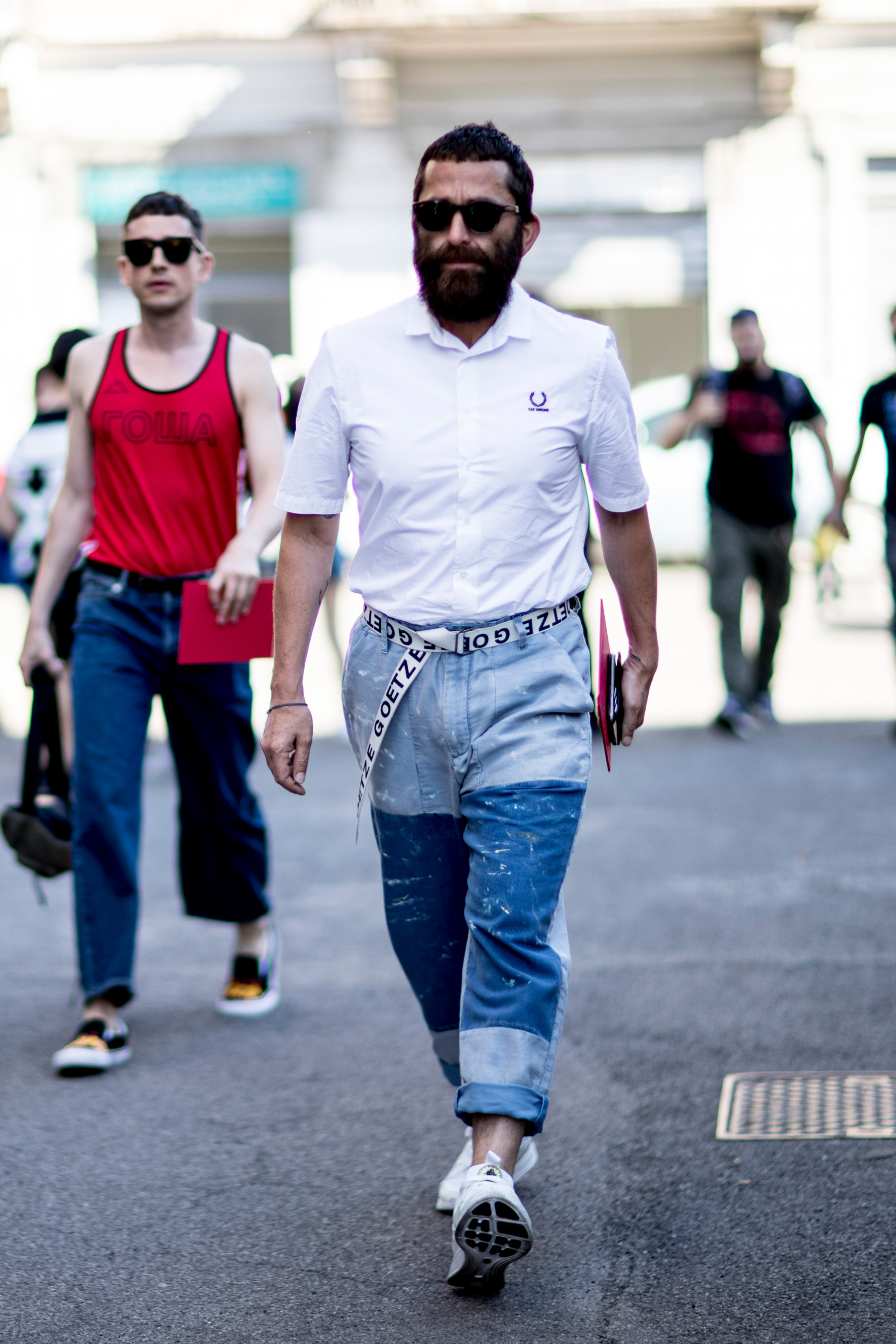 Milan Fashion Week Men's Street Style Spring 2018 Day 1