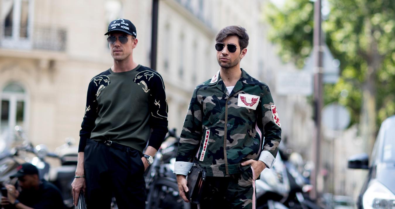 Paris Fashion Week Men's Street Style Spring 2018 Day 1