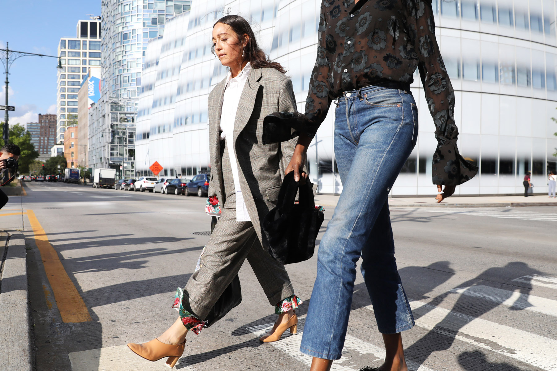 New York Fashion Week Street Style Spring 2018 Day 2 by Myoungsoo Lee
