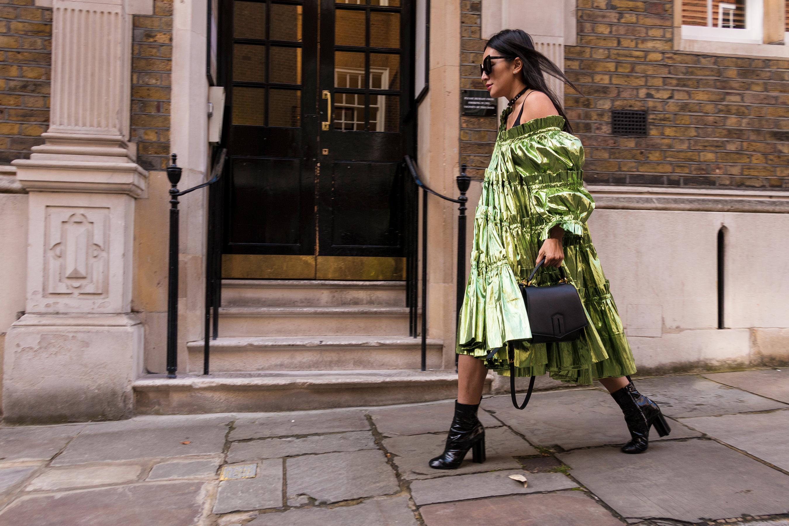 London Fashion Week Street Style Spring 2018 by Poli Alexeeva