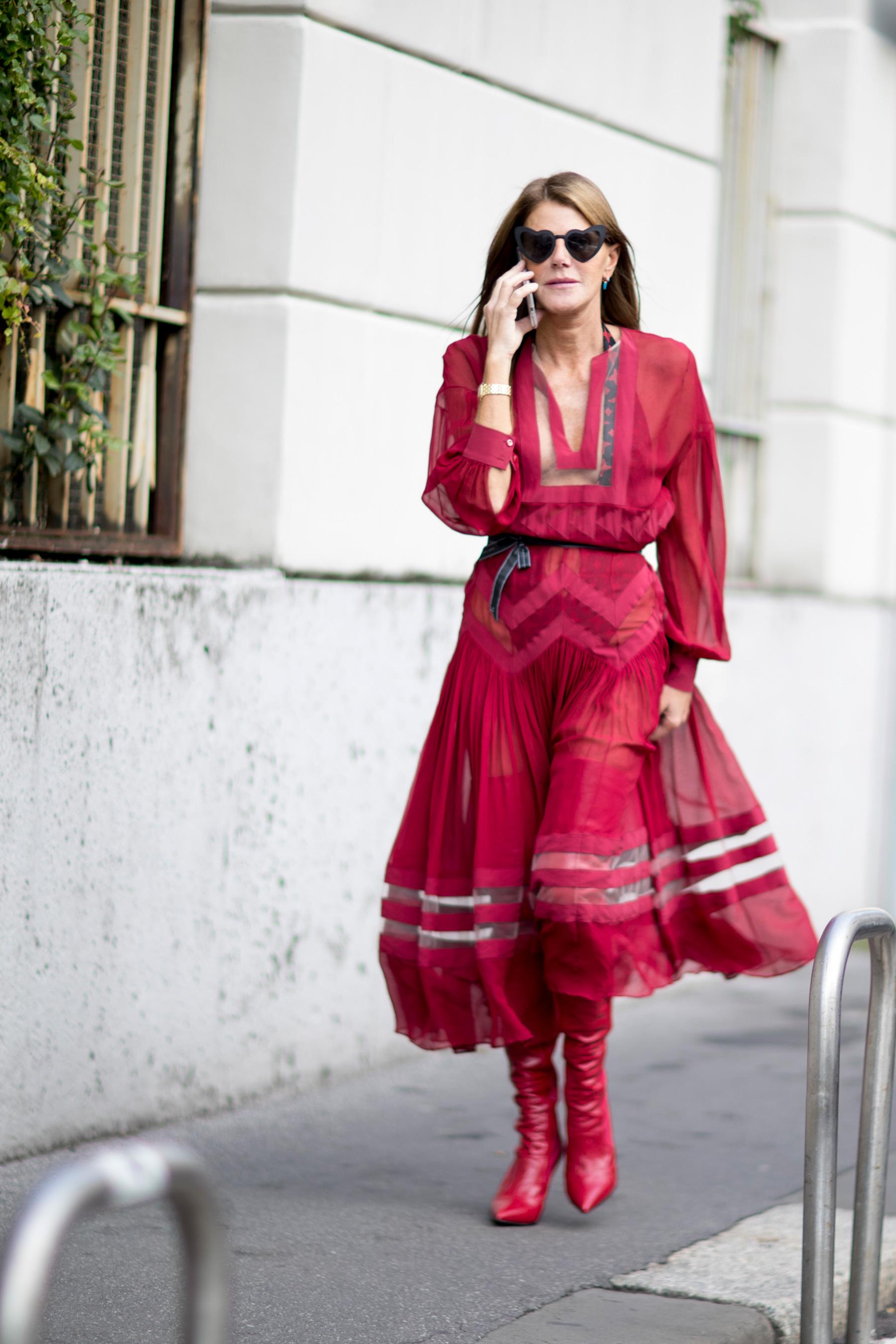 Milan Fashion Week Street Style Spring 2018 Day 4