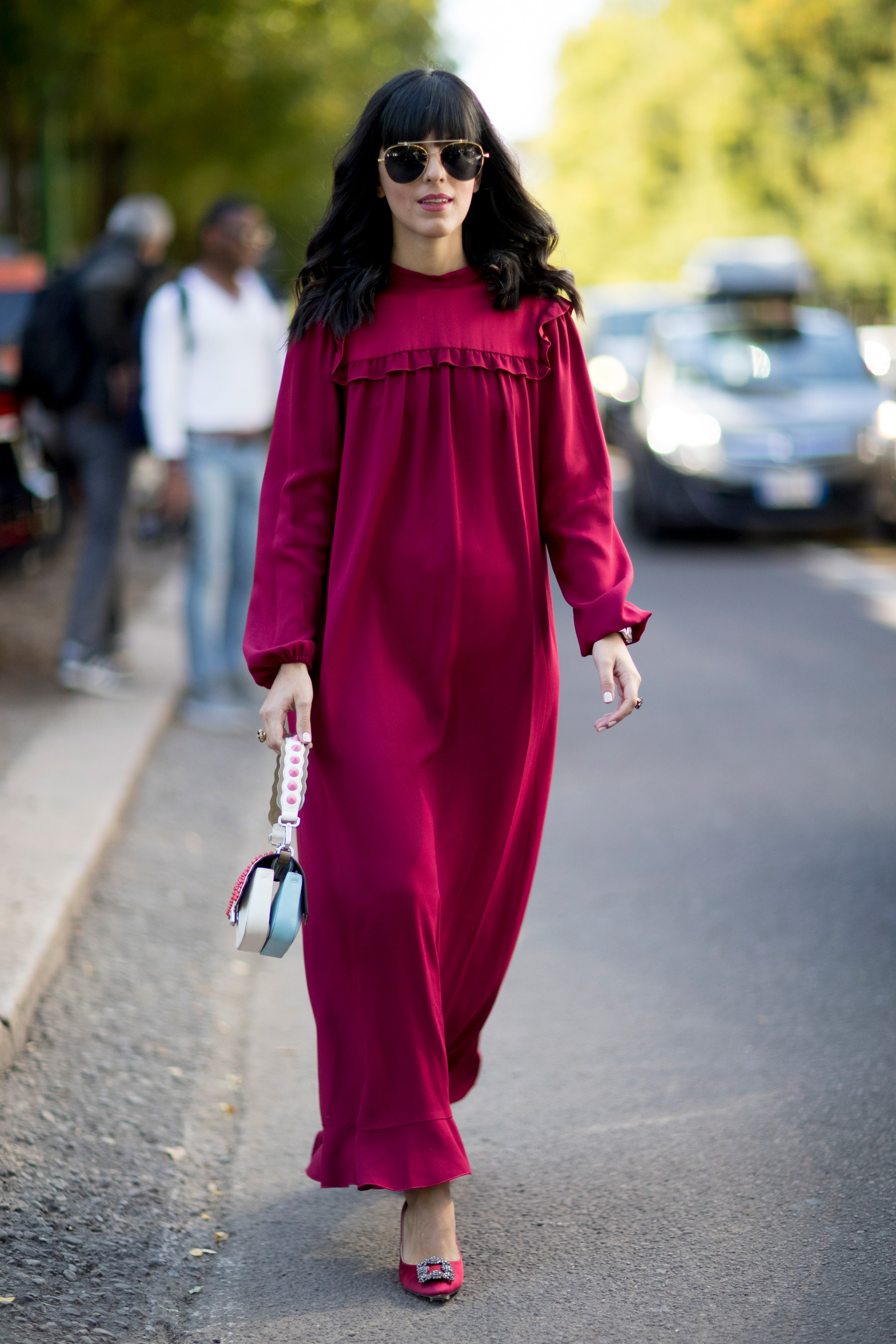 Milan Fashion Week Street Style Spring 2018 Day 2