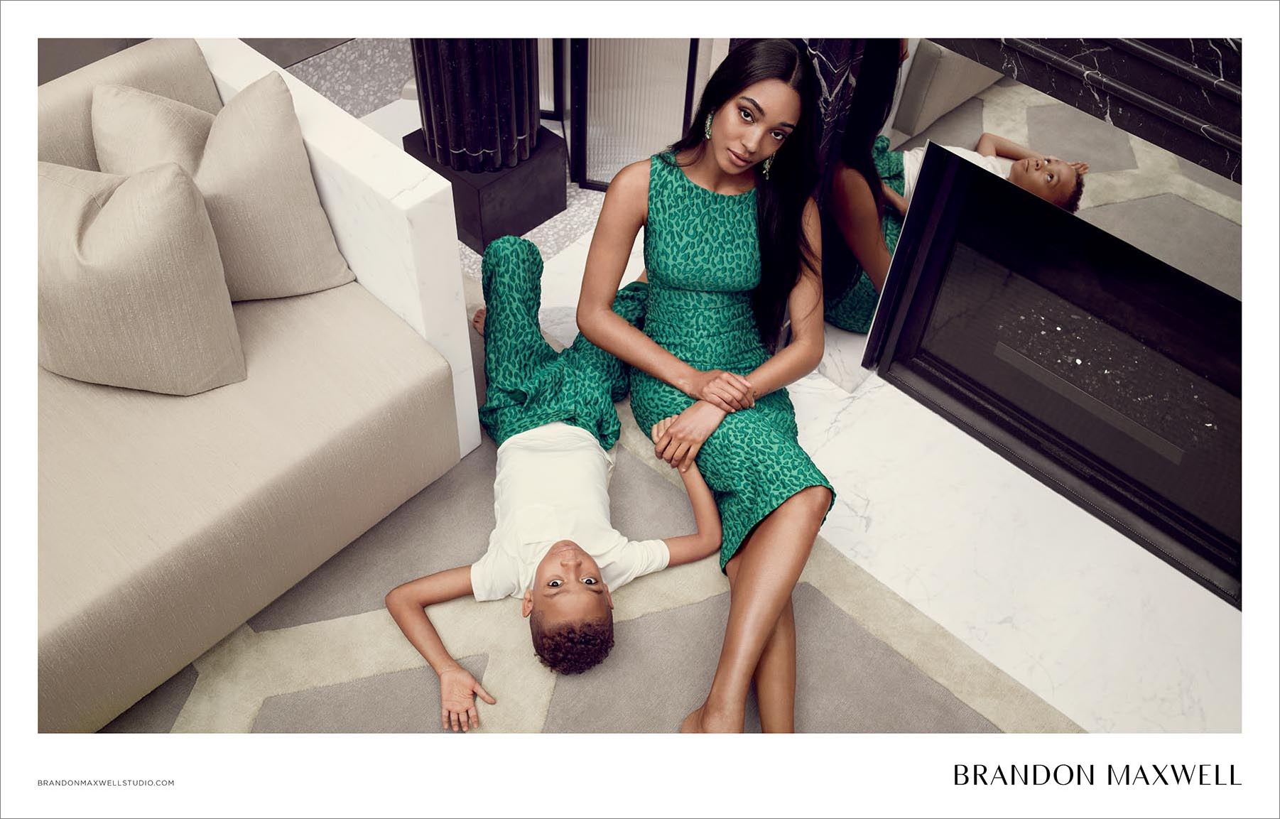 Brandon Maxwell features Jourdan Dunn in Spring 2018 Ad Campaign