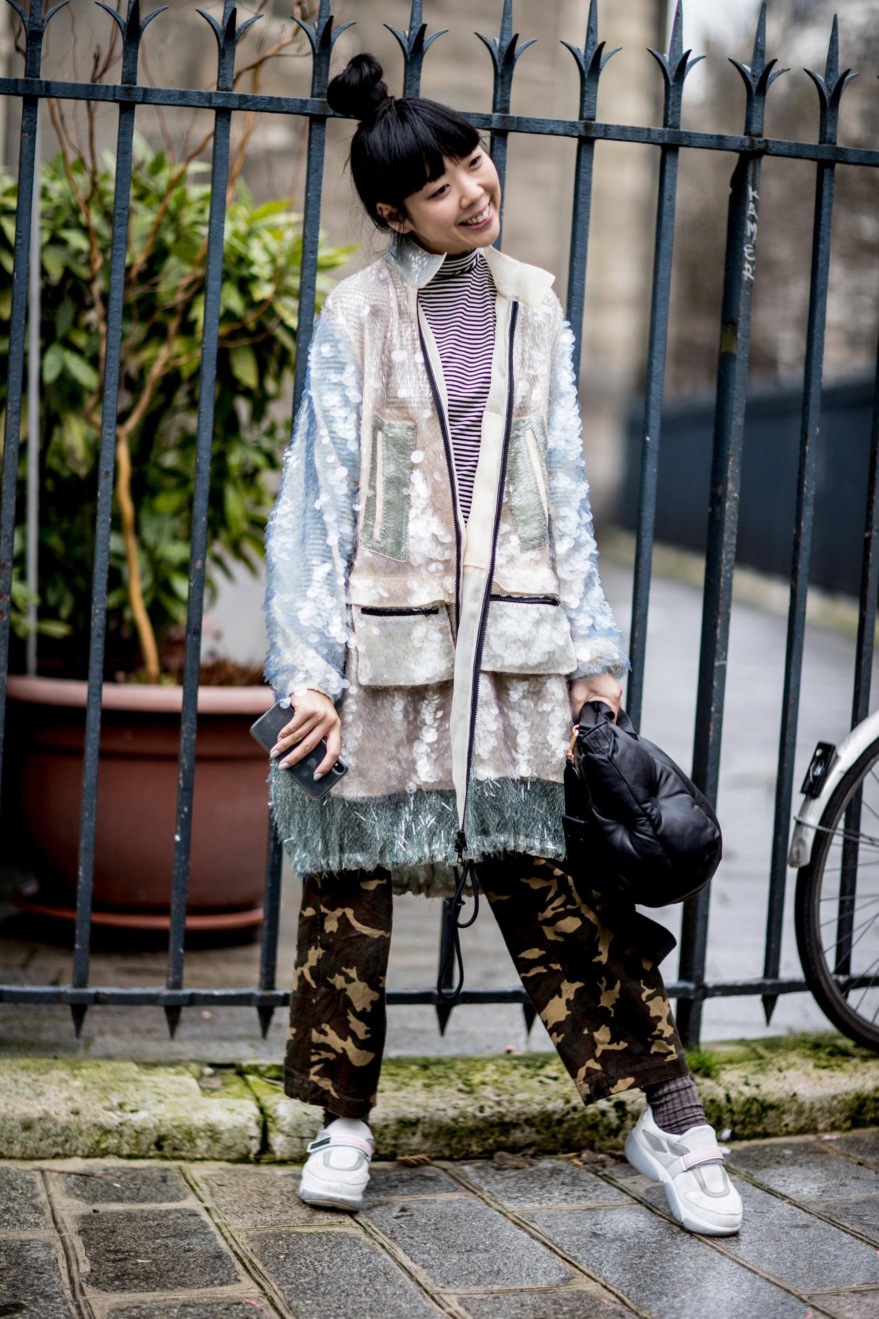 Paris Couture Fashion Week Street Style Spring 2018 Day 3