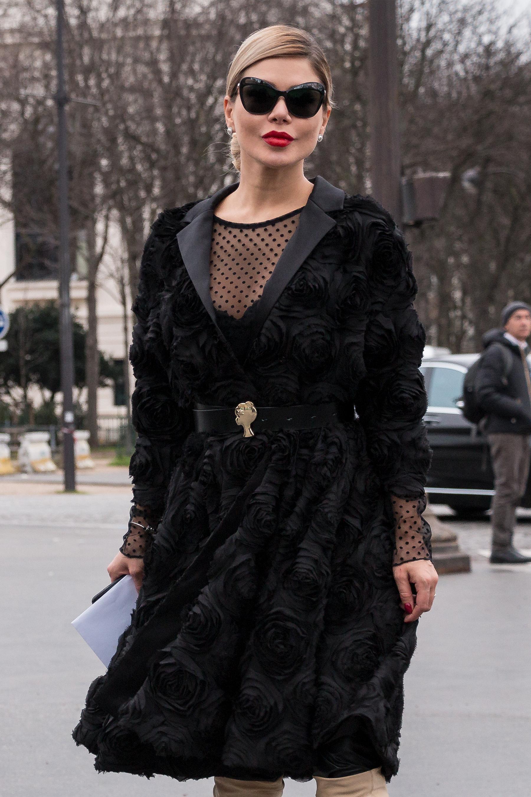Camila Poli paris couture fashion week street style spring 2018 poli