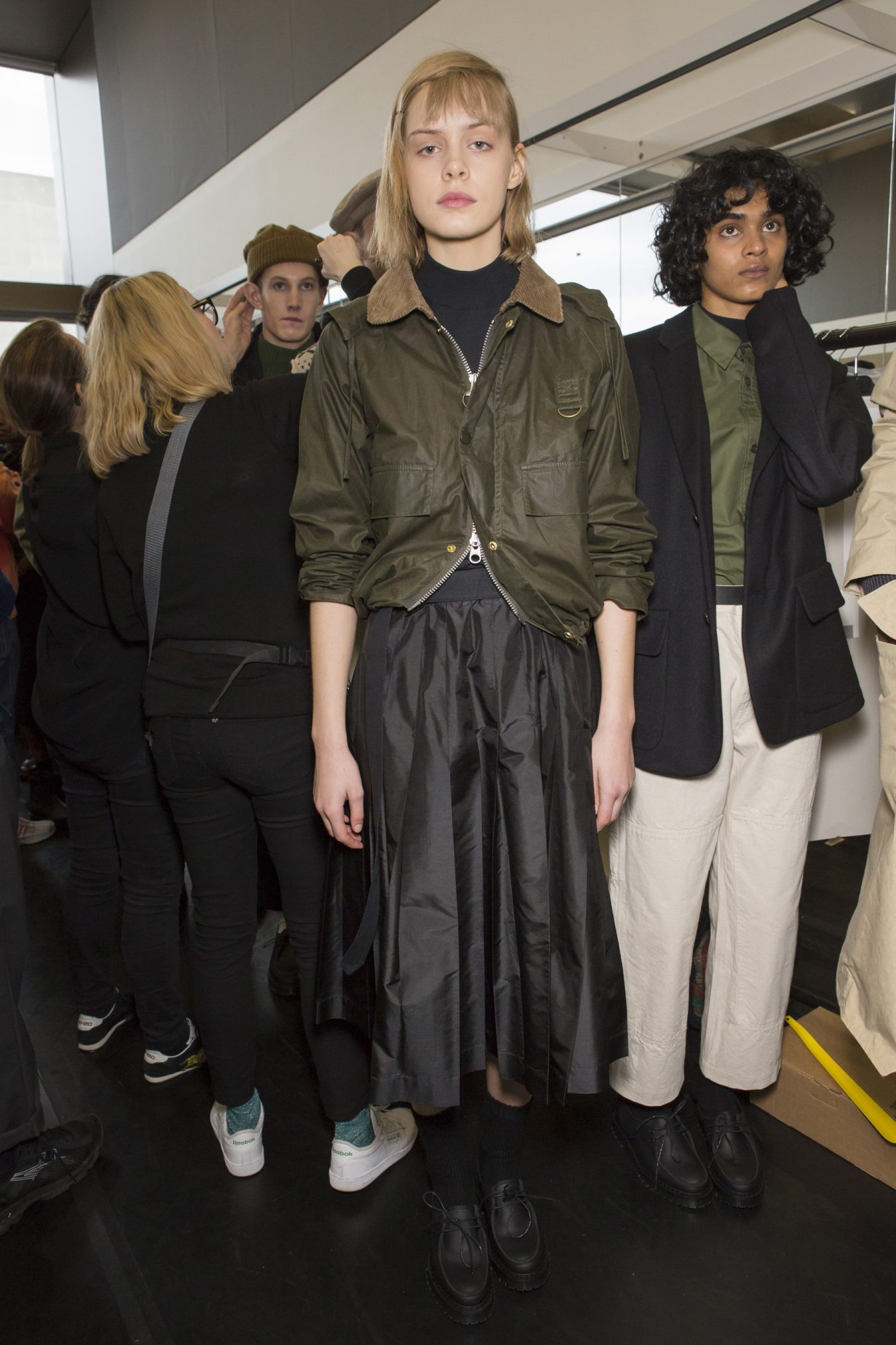 Margaret Howell Fall 2018 Fashion Show Backstage