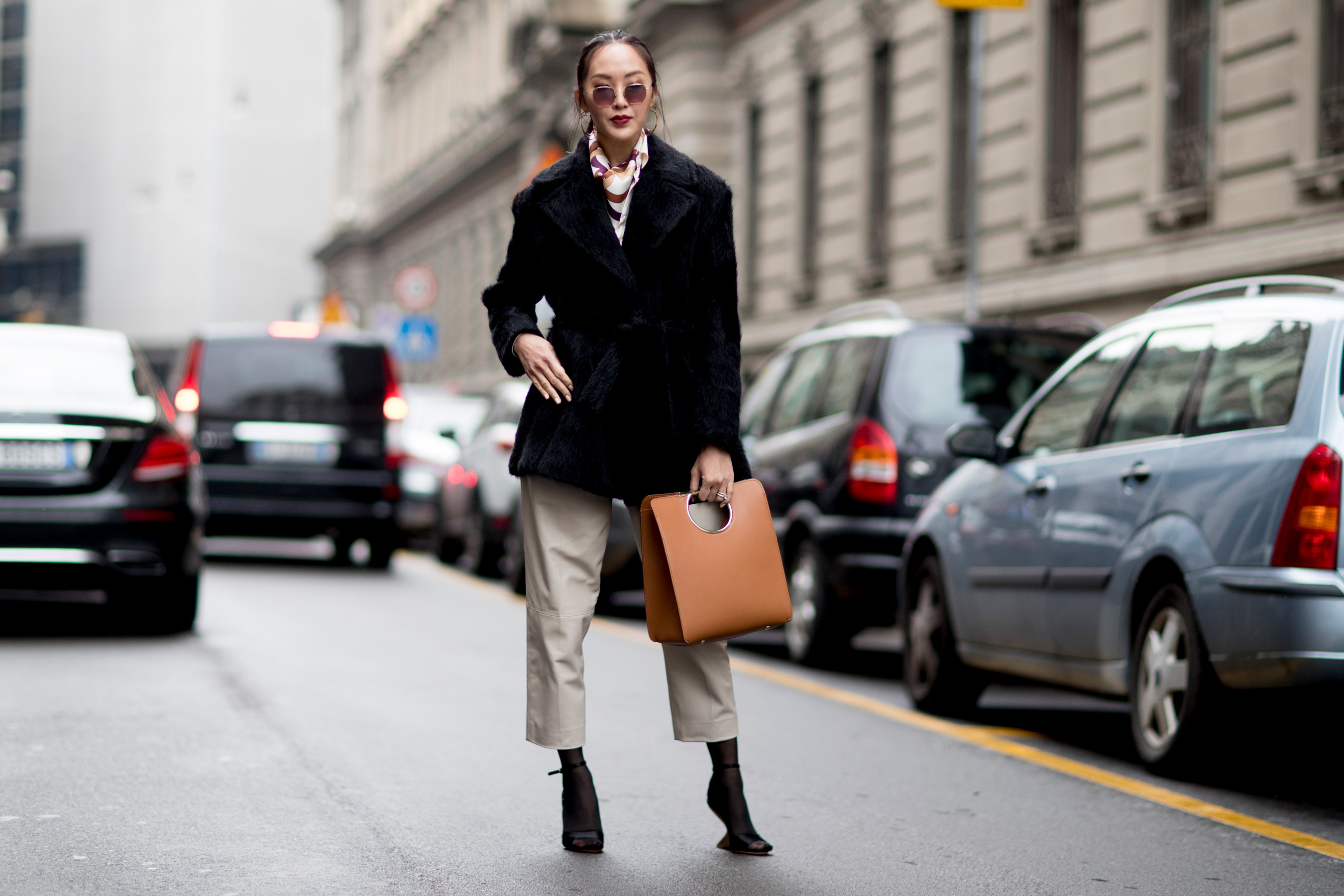 Milan Fashion Week Street Style Fall 2018 Day 4