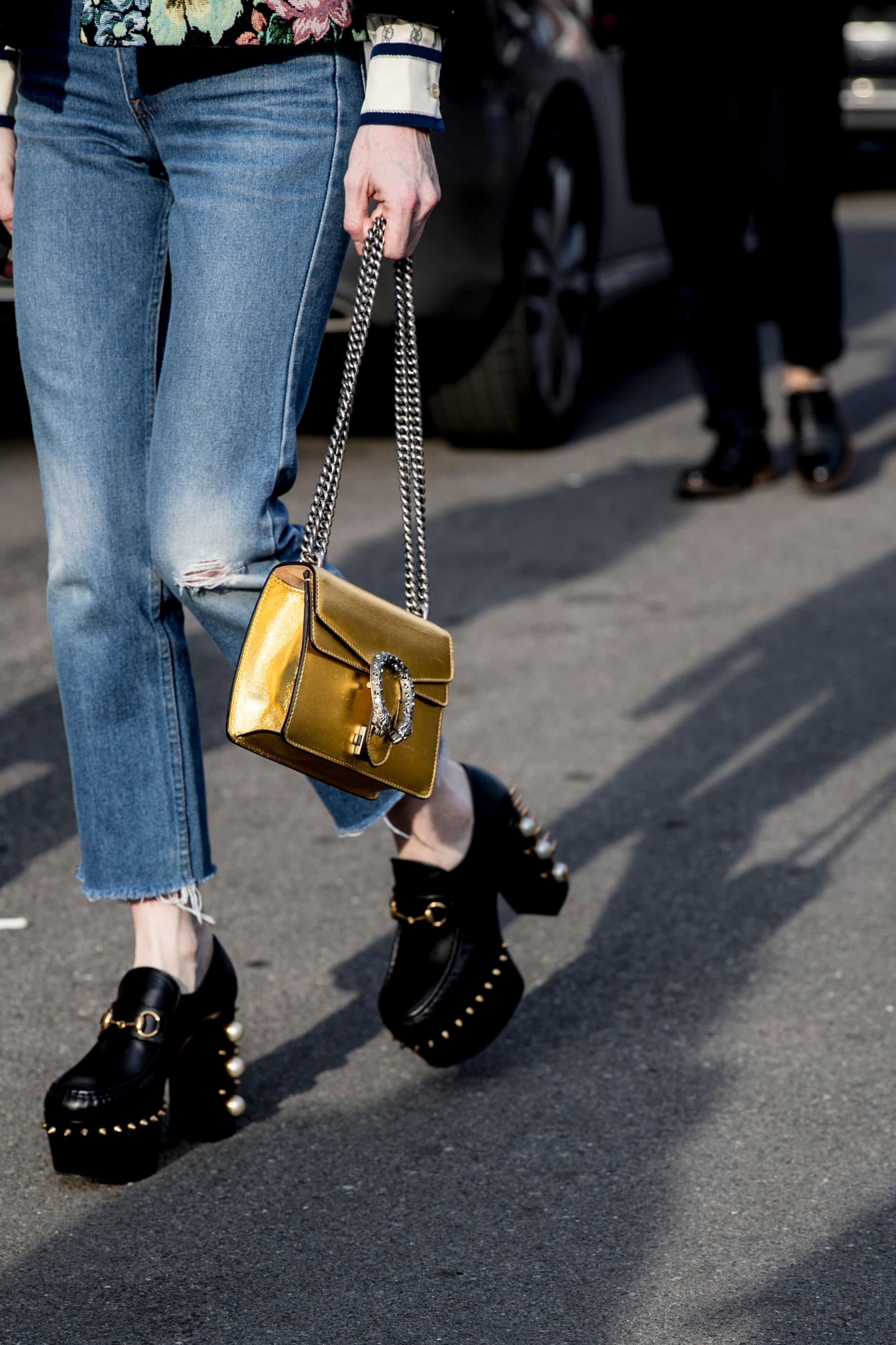 Milan Fashion Week Street Style Fall 2018 Day 1