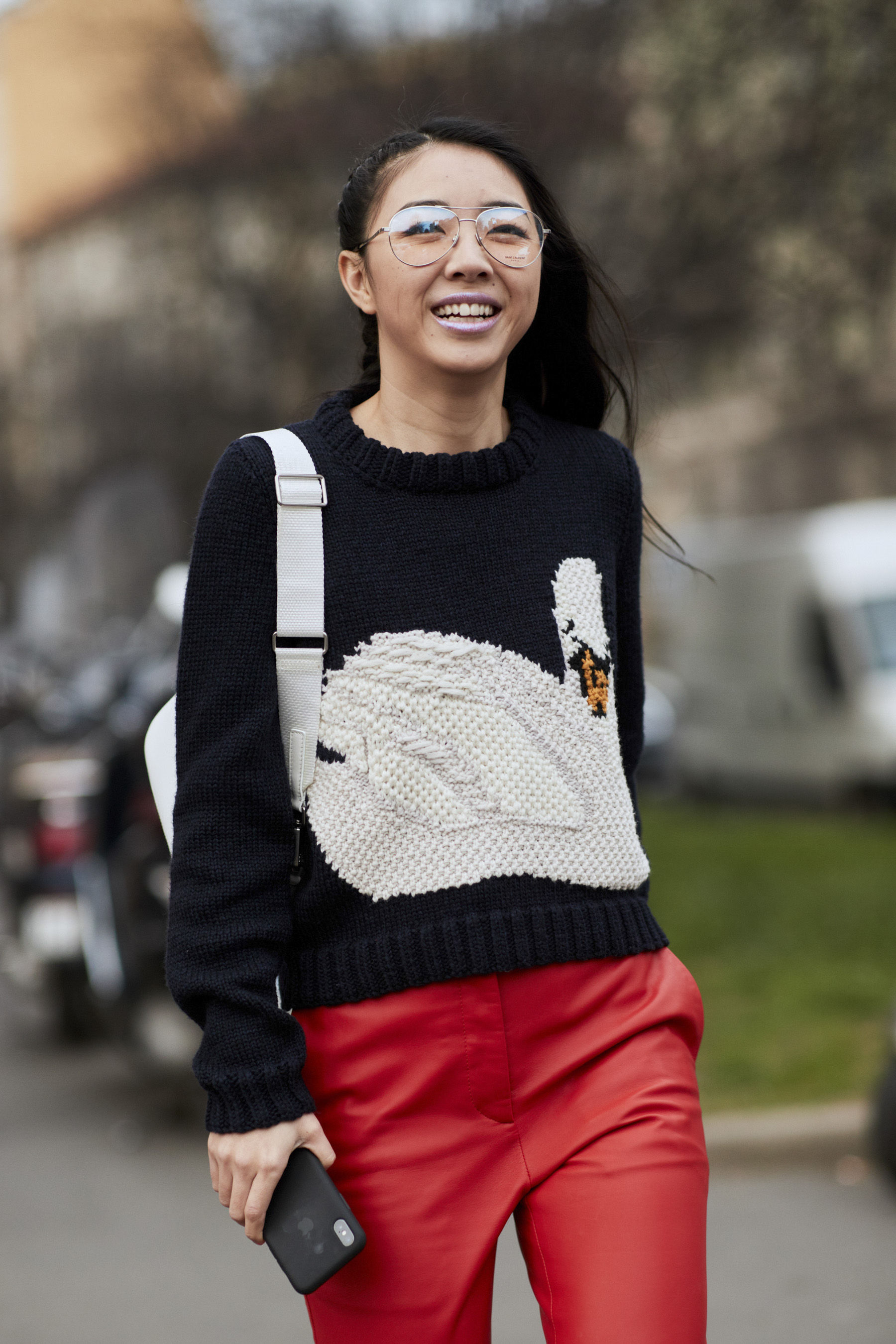 Milan Fashion Week Street Style Fall 2018 Day 1 Cont.
