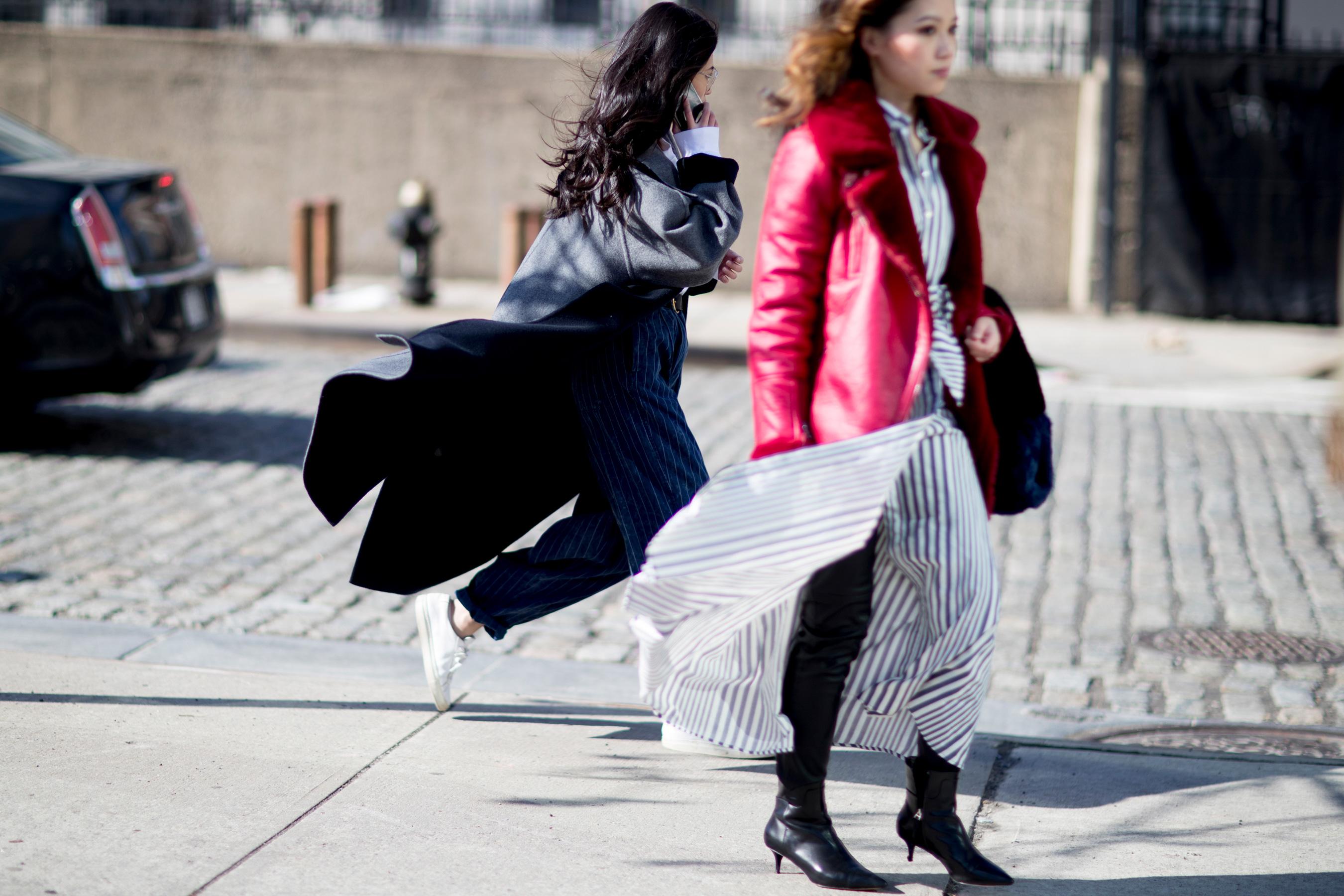 New York Fashion Week Street Style Fall 2018 Day 1