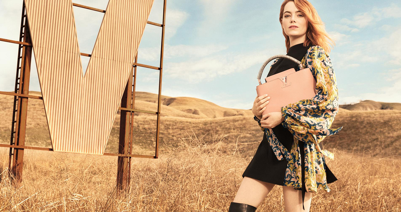 Louis Vuitton Emma Stone Pre-Fall 2018 Ad Campaign