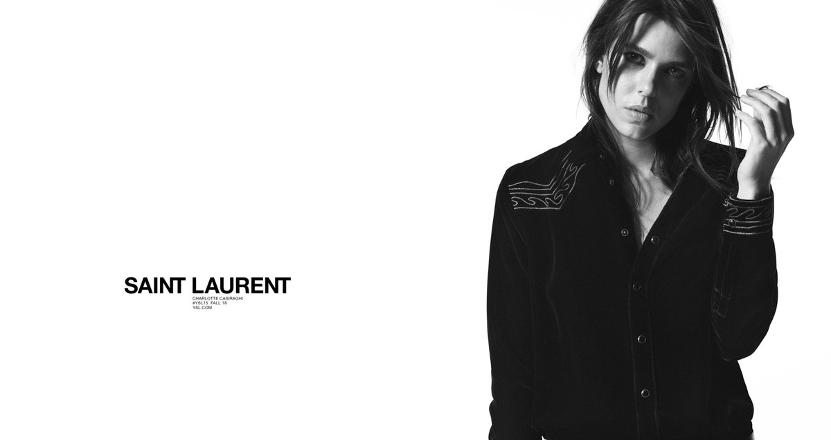 Saint Laurent Fall 2018 Campaign with Charlotte Casiraghi