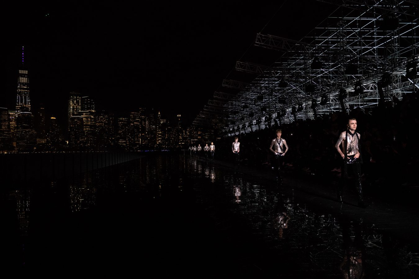 Saint Laurent Spring 2019 Men's Fashion Show Staging