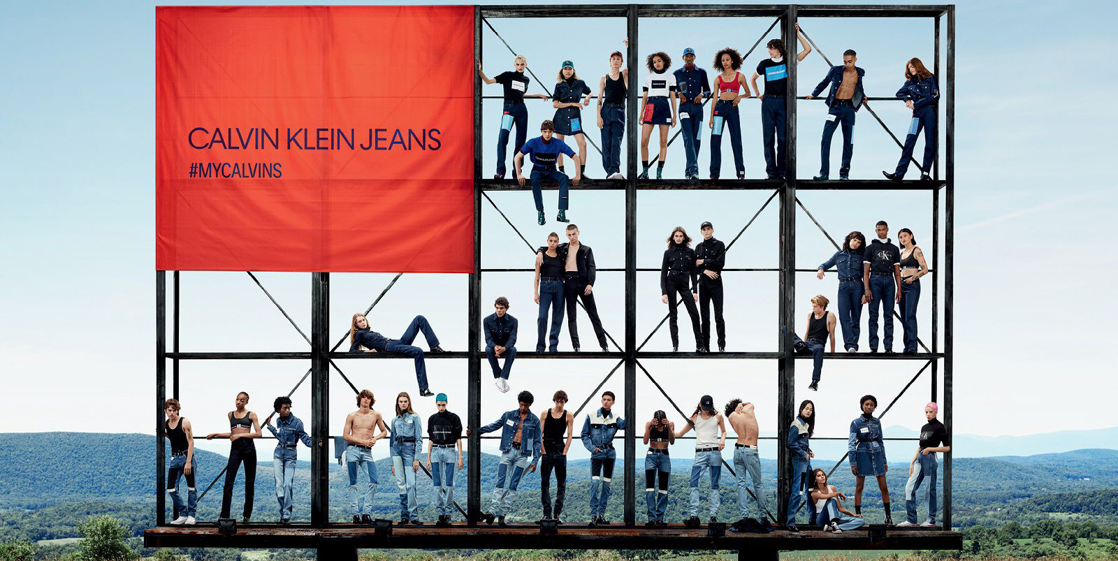Calvin Klein Jeans Together in Denim Fall 2018 Ad Campaign