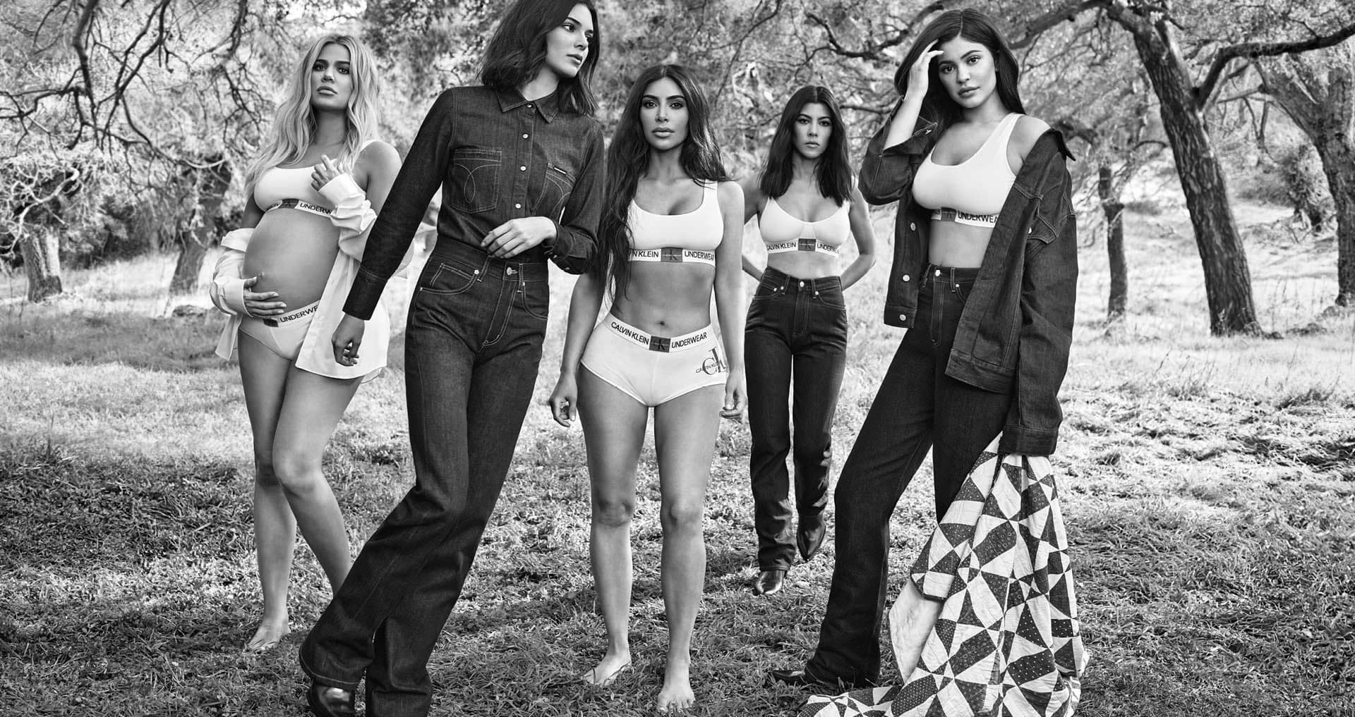 Calvin Klein Kardashian-Jenner Sisters Jeans and Underwear Fall 2018 Ad Campaign