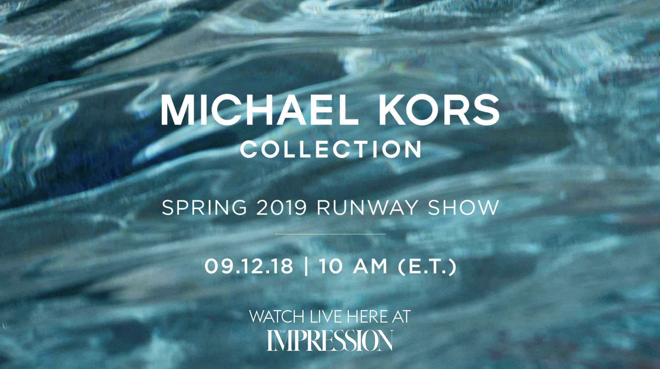 Watch the Michael Kors Spring 2019 Runway Show Live