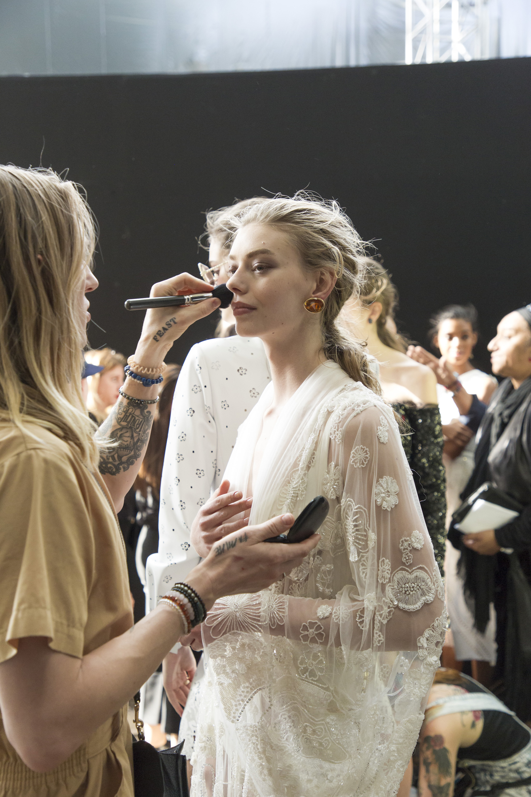 d5763b6a416a Elie Saab Spring 2019 Fashion Show Backstage - The Impression