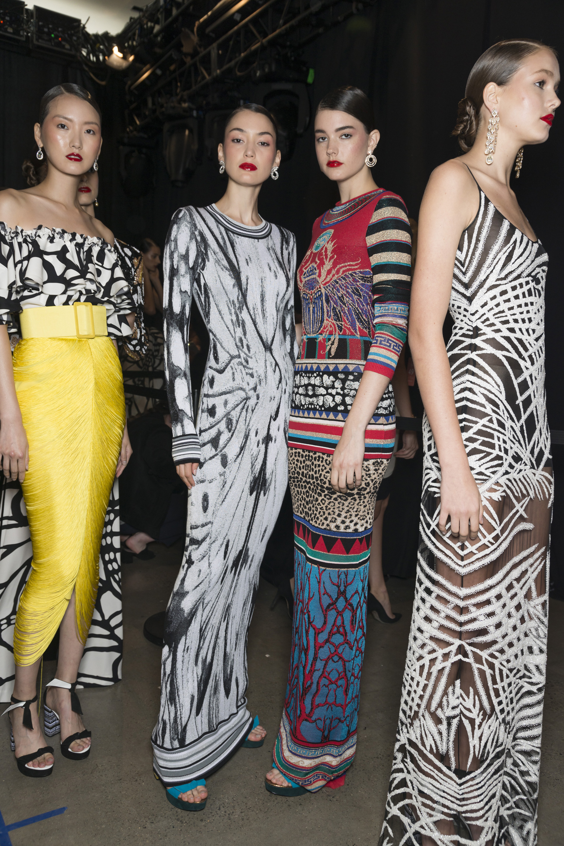 Naeem Khan Spring 2019 Fashion Show Backstage