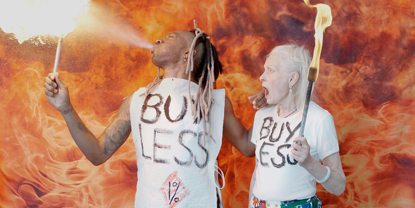 Vivienne Westwood Launches Buy Less Dress Up Film for Spring 2019 ad campaign