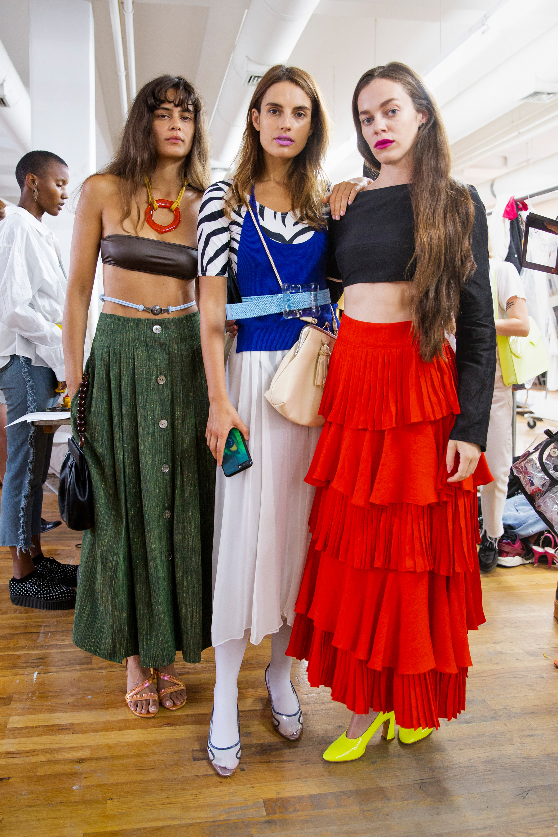 Maryam Nassir Zadeh Spring 2019 Fashion Show Backstage