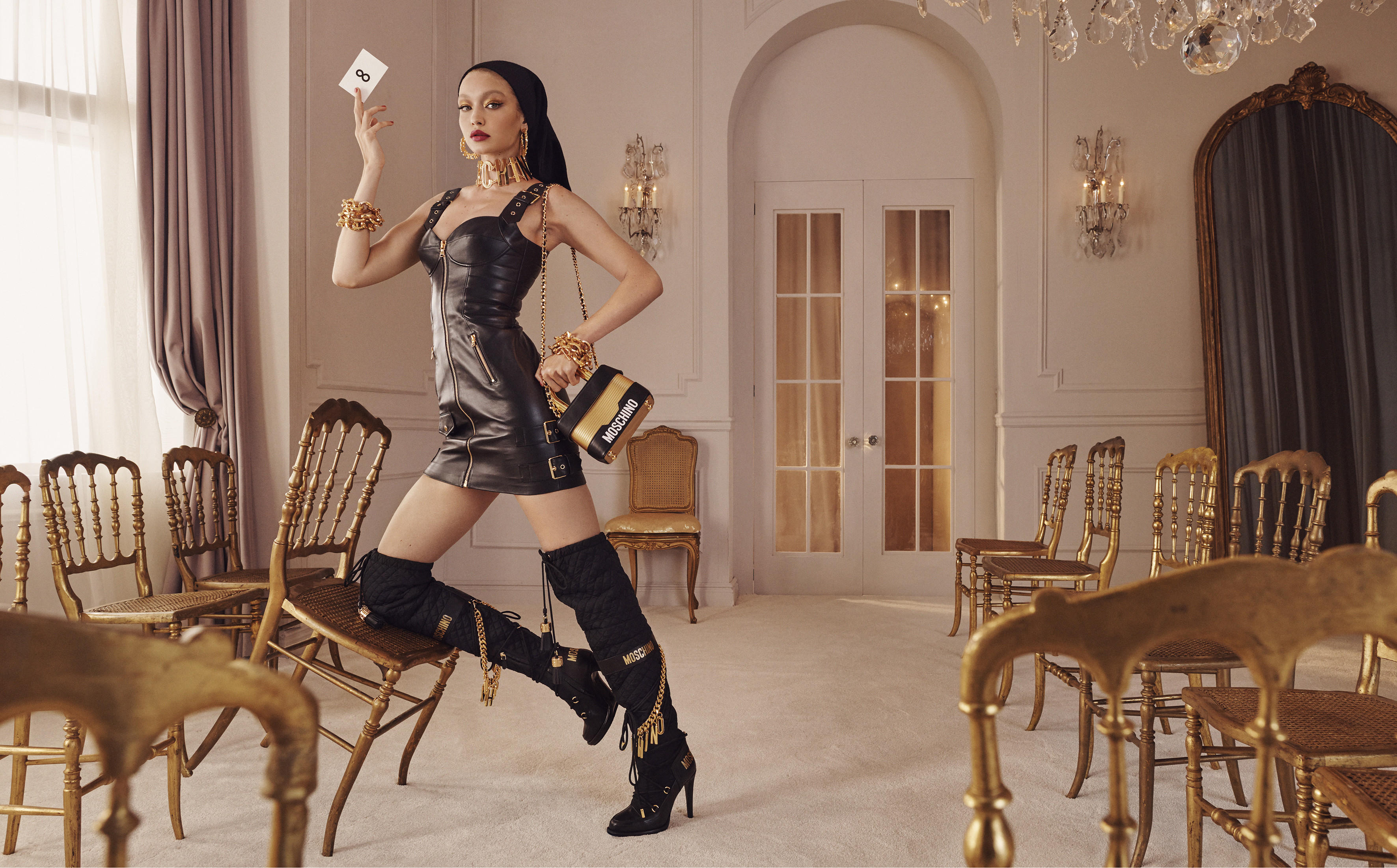 H&M x Moschino Teaser Campaign by Steven Meisel