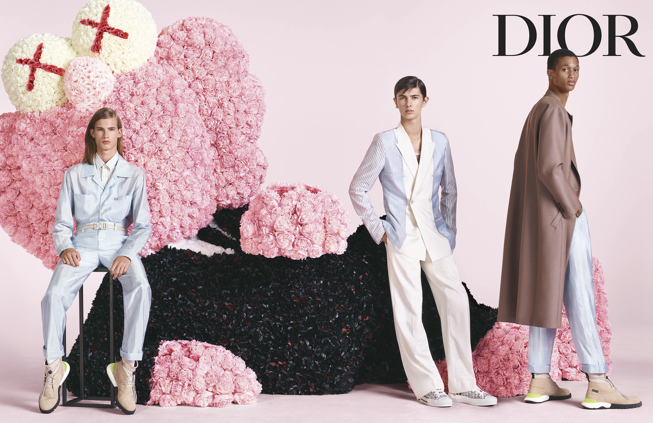 Dior Men's Spring 2019 Ad Campaign featuring KAWS by Steven Meisel
