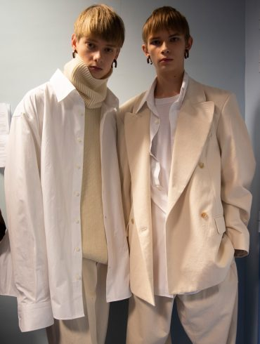 Hed Mayner Fall 2019 Men's Fashion Show Backstage