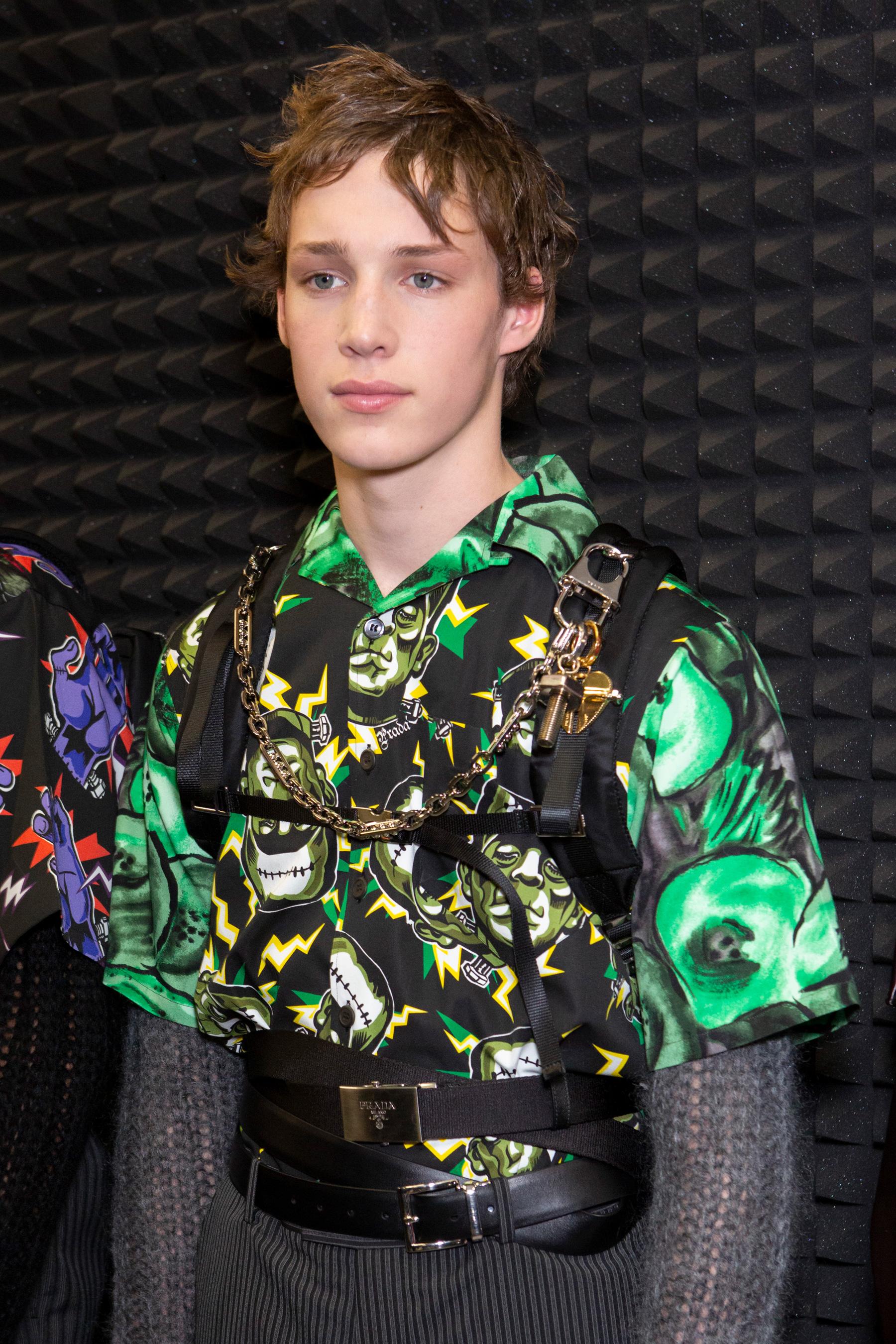 Prada Fall 2019 Men's Fashion Show Backstage