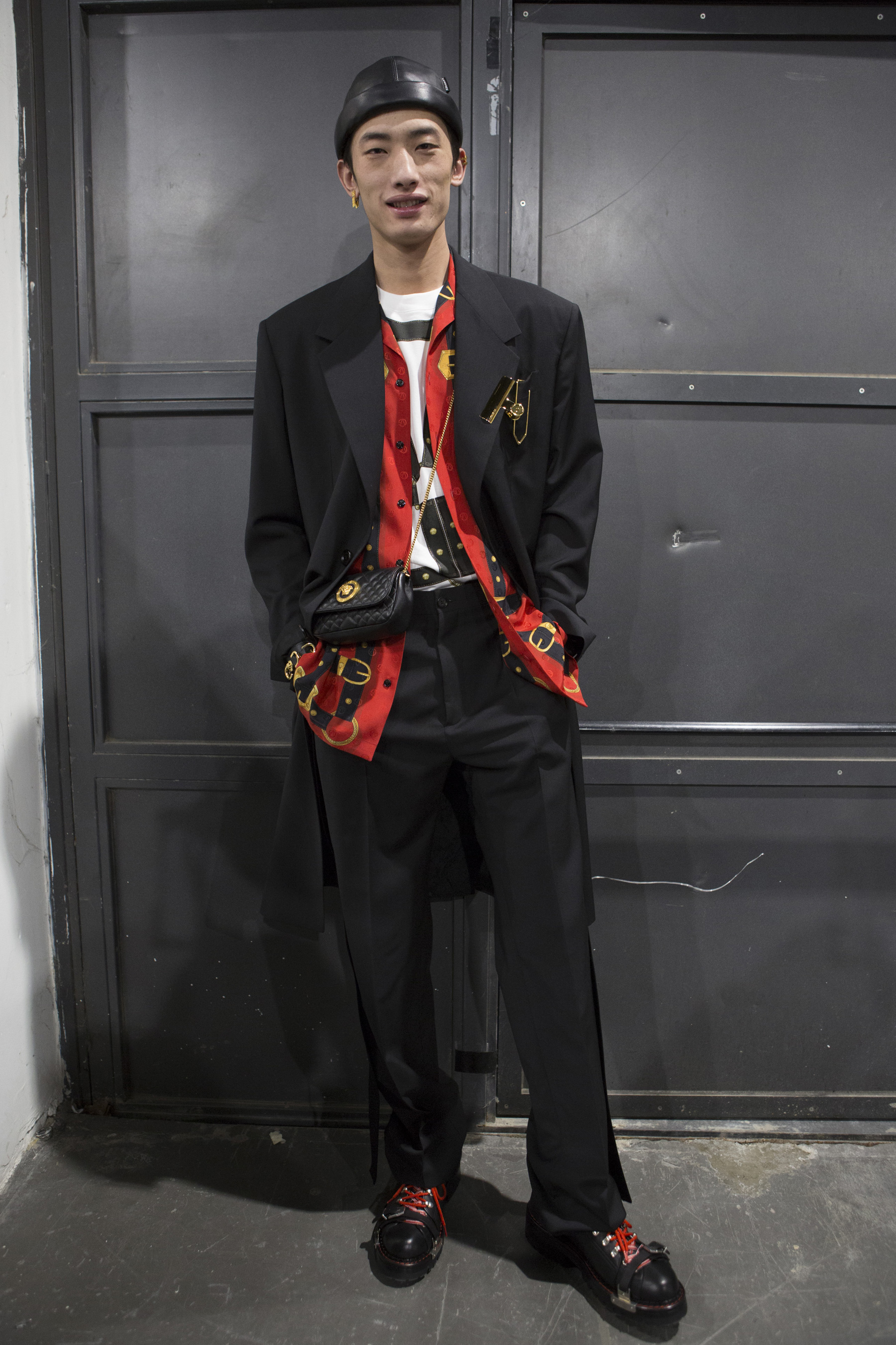 Versace Fall 2019 Men's Fashion Show backstage