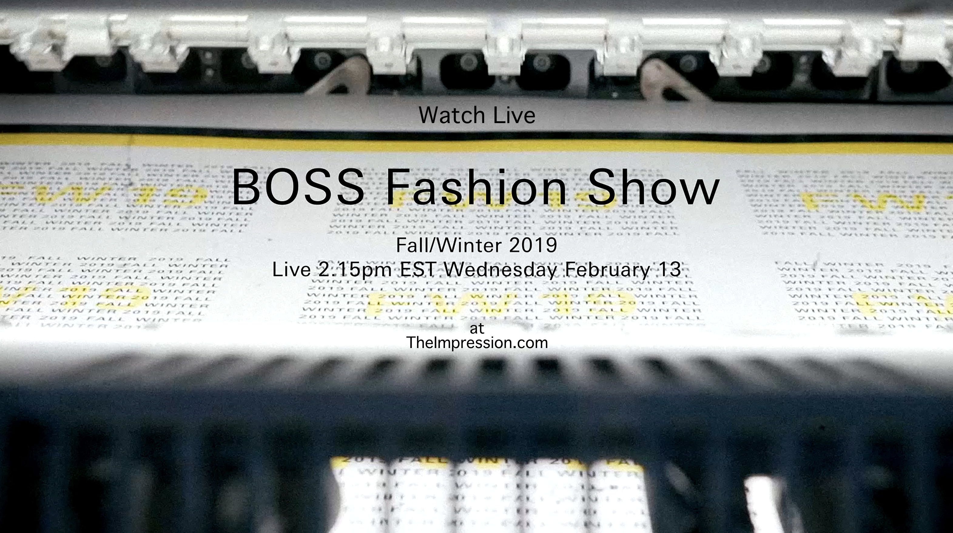 Watch Boss ​Fall 2019 Runway Show Live