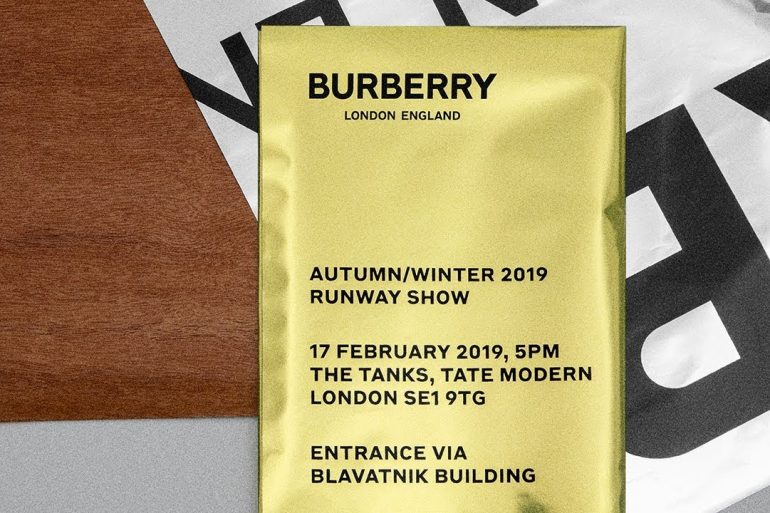Watch Burberry ​Fall 2019 Runway Show Live
