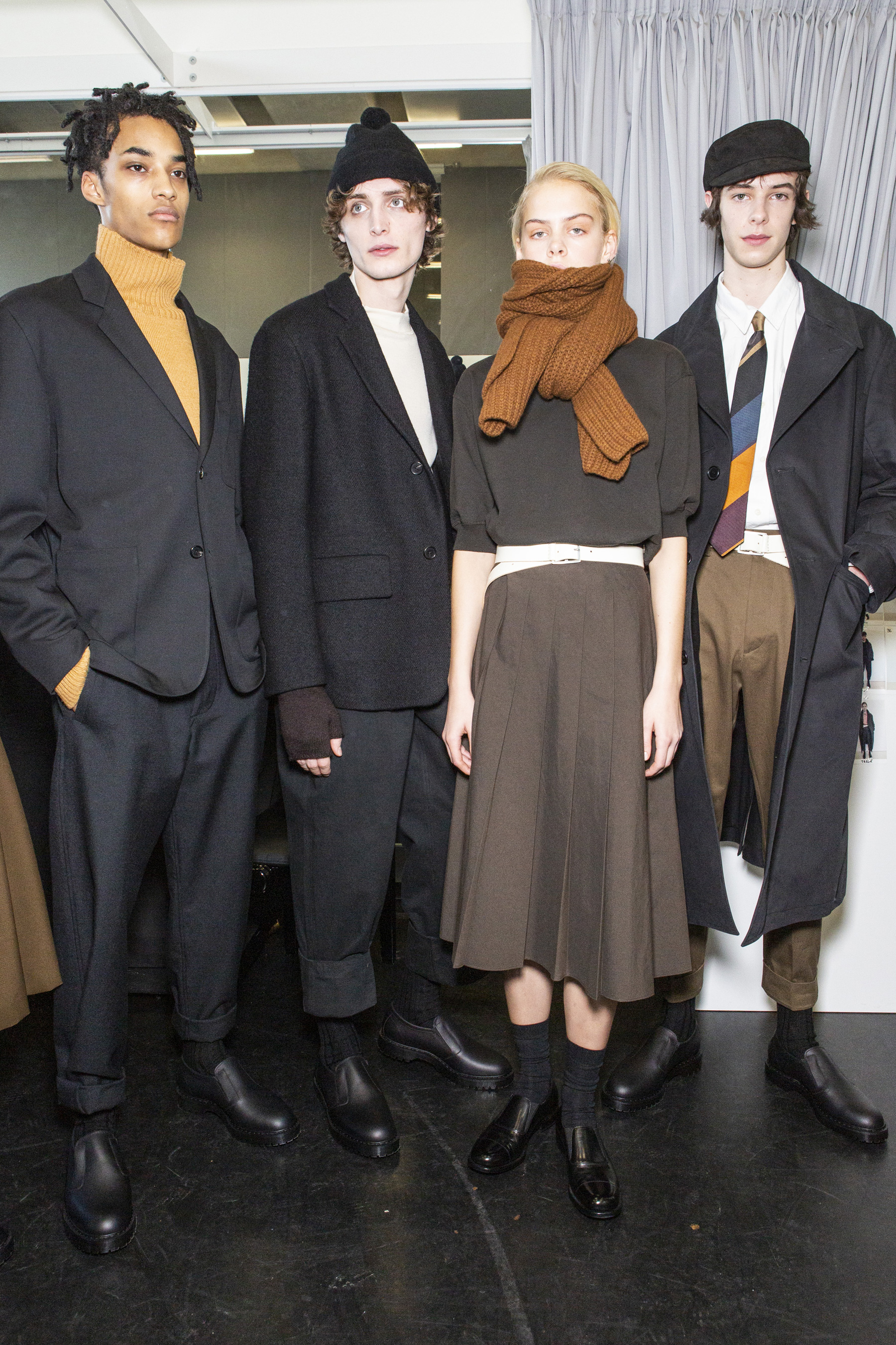 Margaret Howell Fall 2019 Fashion Show Backstage