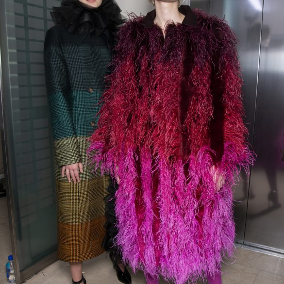 Mary Katrantzou Fall 2019 Fashion Show Backstage