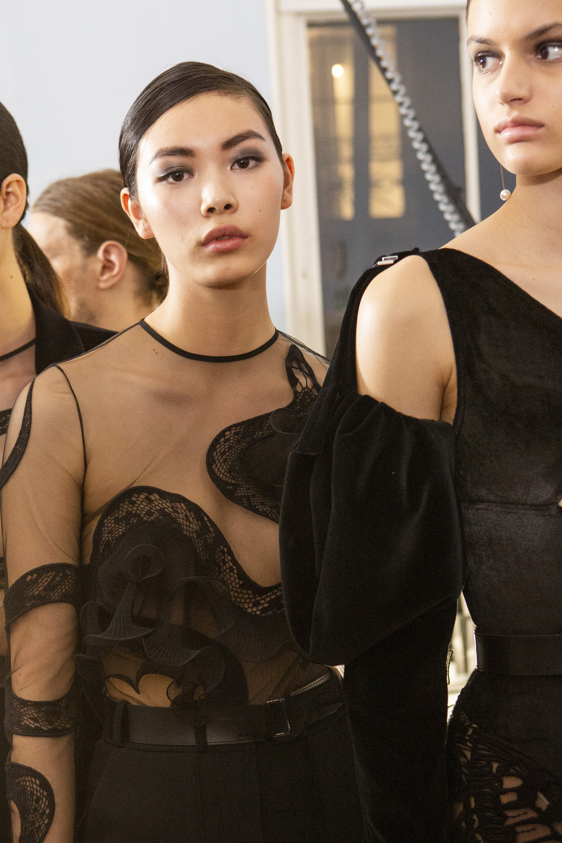 David Koma Fall 2019 Fashion Show Backstage
