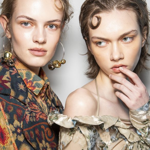 Preen By Thornton Bregazzi Fall 2019 Fashion Show Backstage