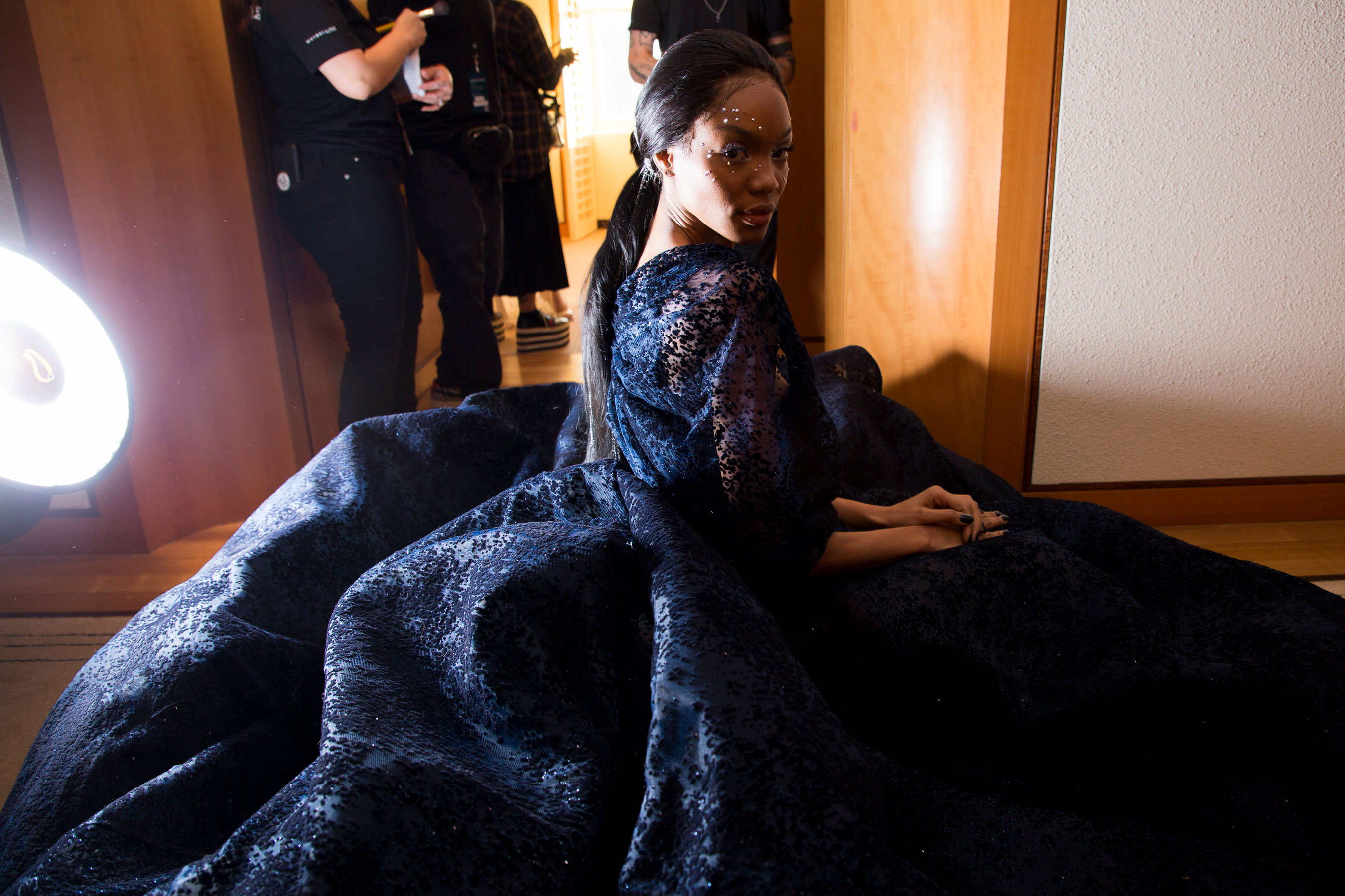 Christian Siriano Fall 2019 Fashion Show Backstage