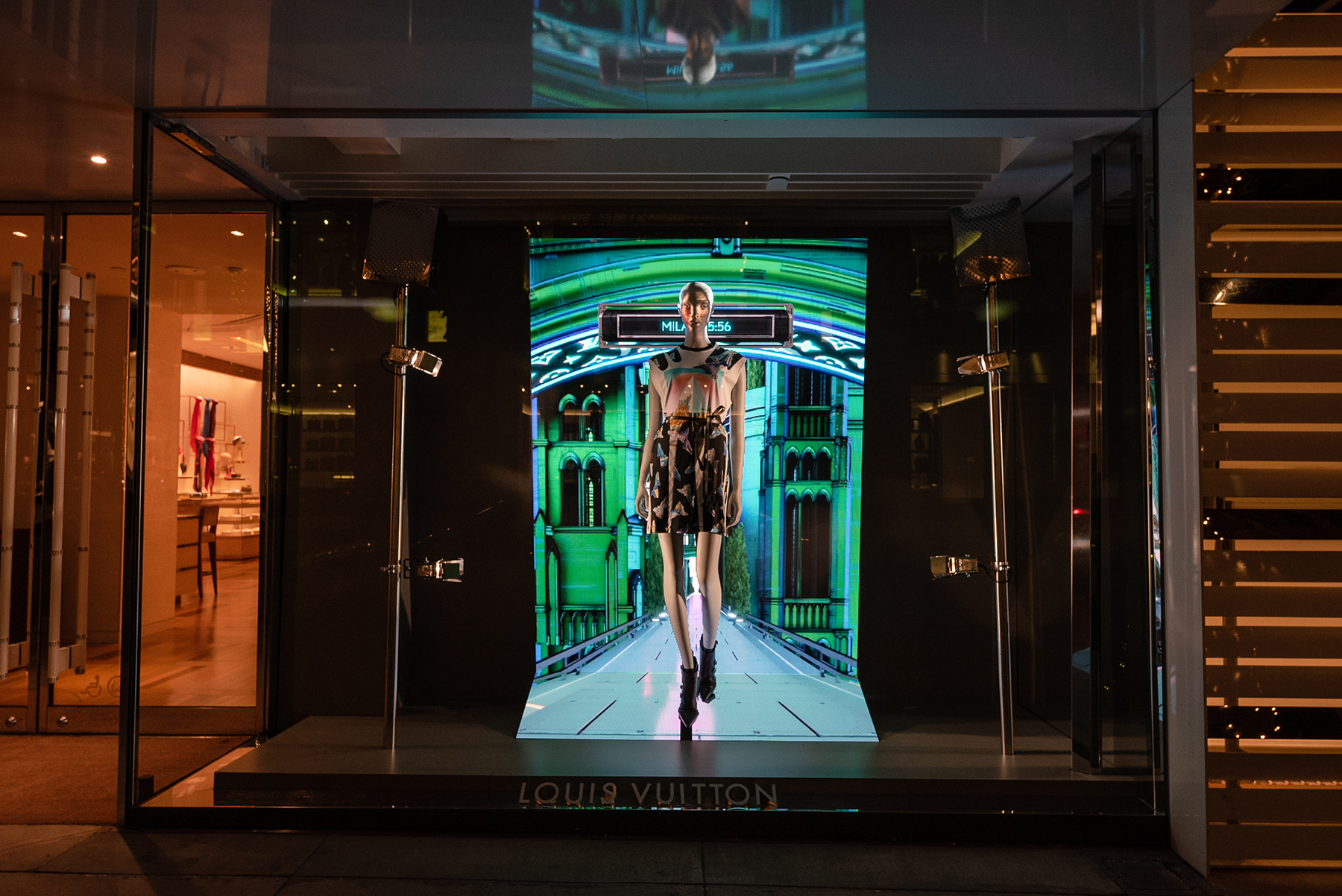 Louis Vuitton Unveils Postcards From the Future Window Displays