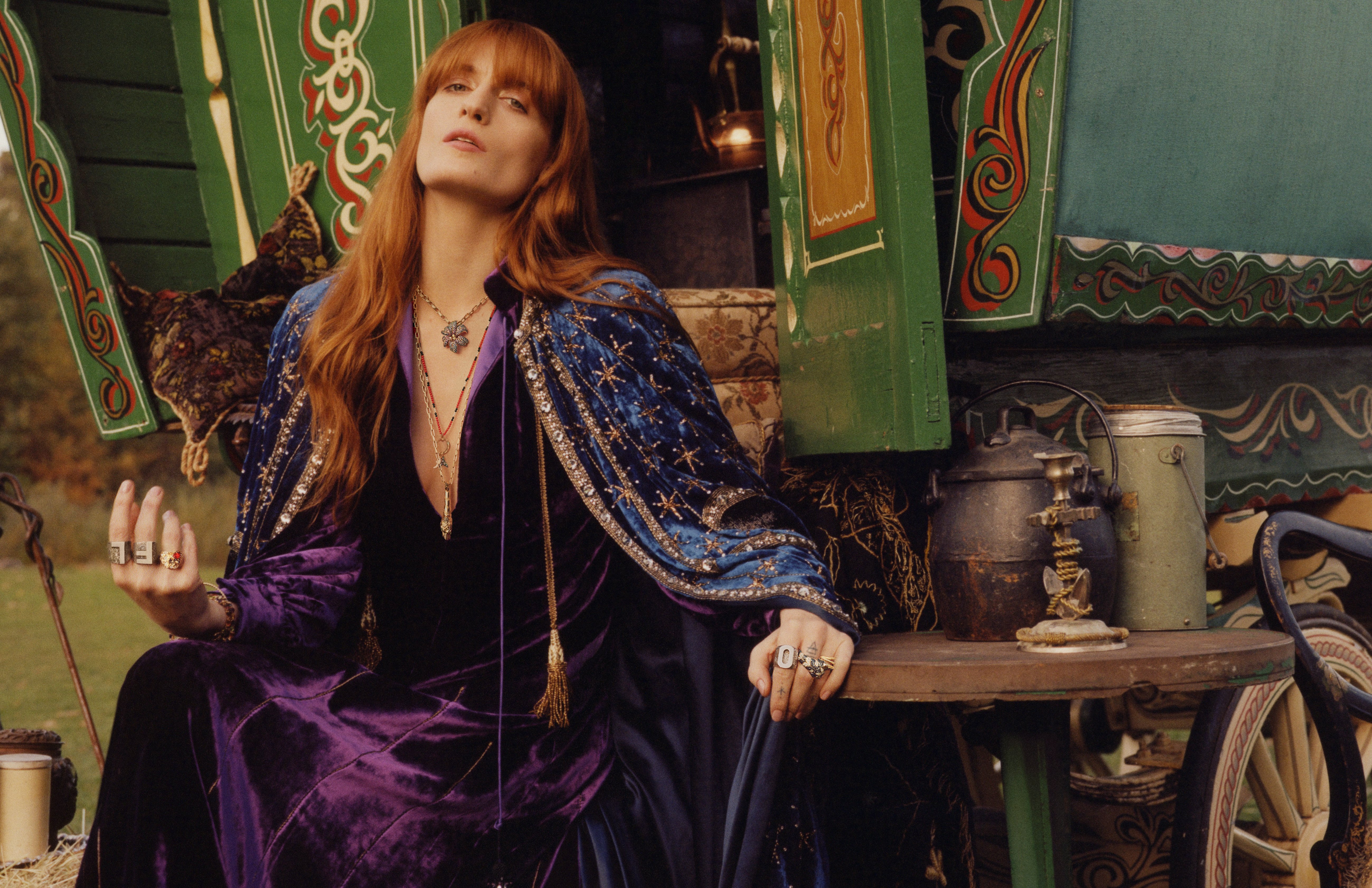 e18c01ed512 Overall the campaign makes us long for a union brokered by Gucci between  Welch and Stevie Nicks.