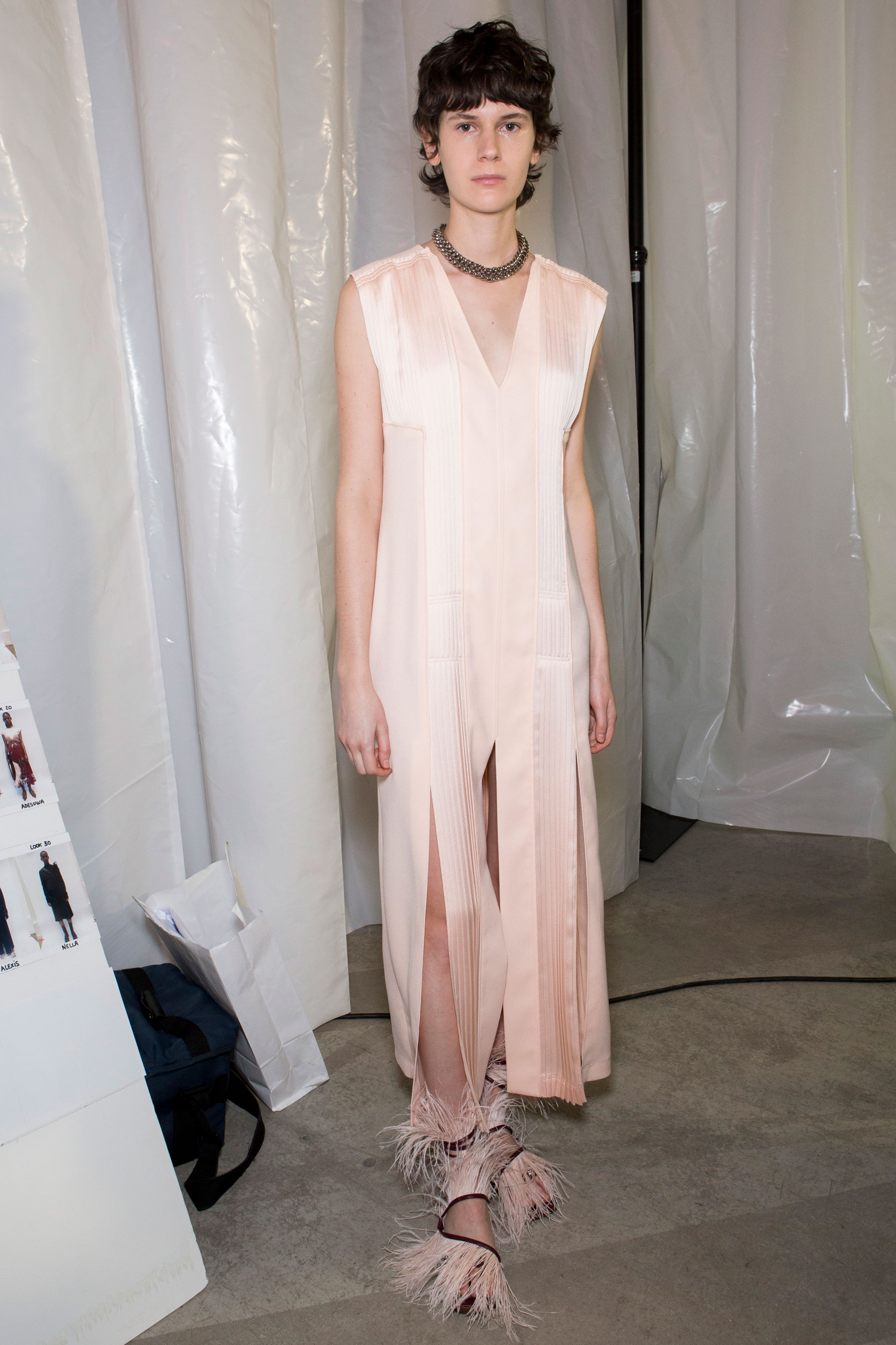 Cedric Charlier Fall 2019 Fashion Show Backstage