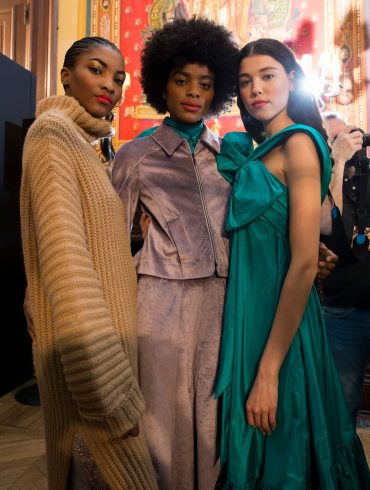 Talbot Runhof Fall 2019 Fashion Show Backstage
