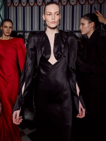 Olivier Theyskens Fall 2019 Fashion Show Backstage
