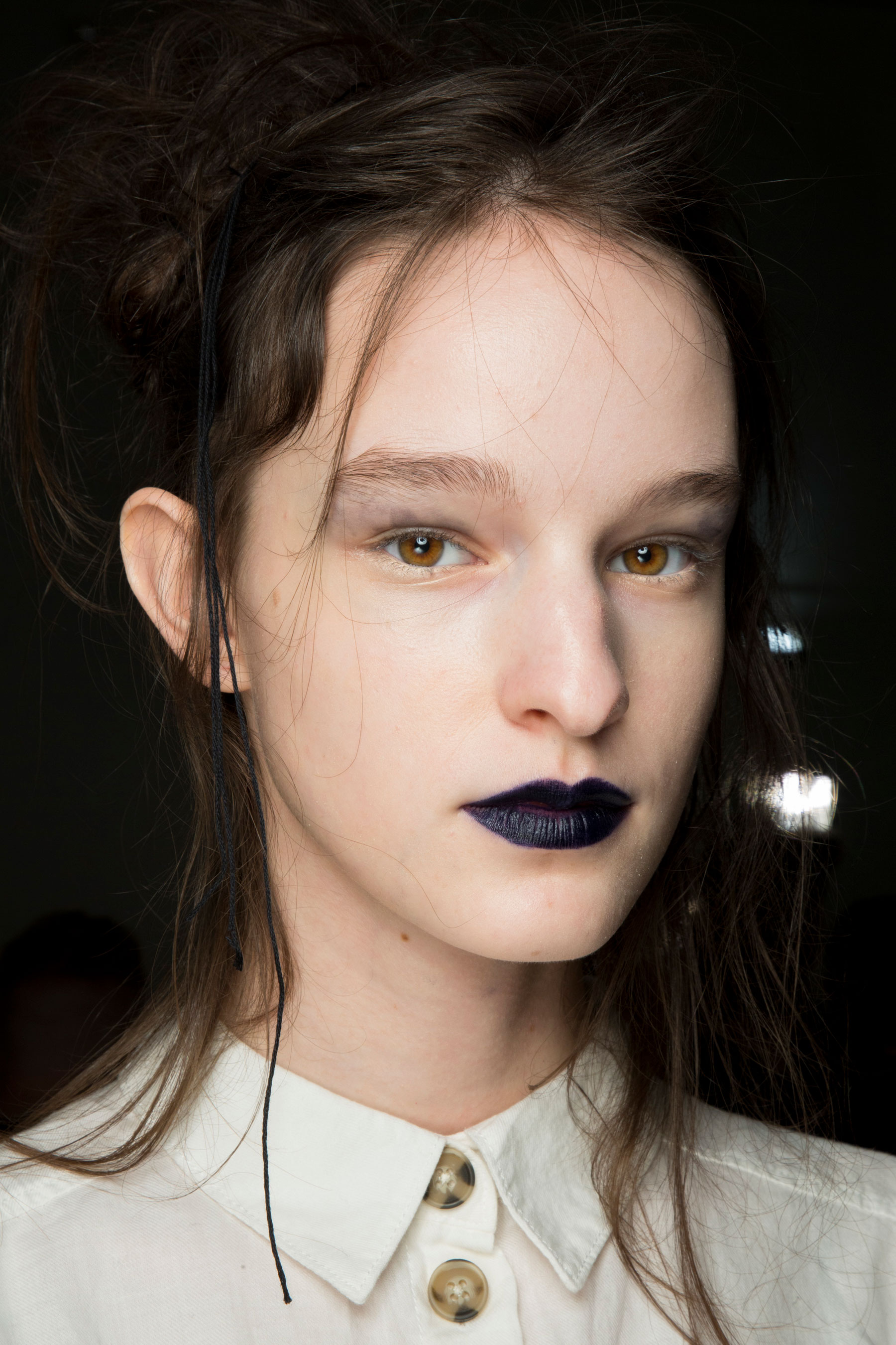 Yohji Yamamoto Fall 2019 Fashion Show Backstage Beauty