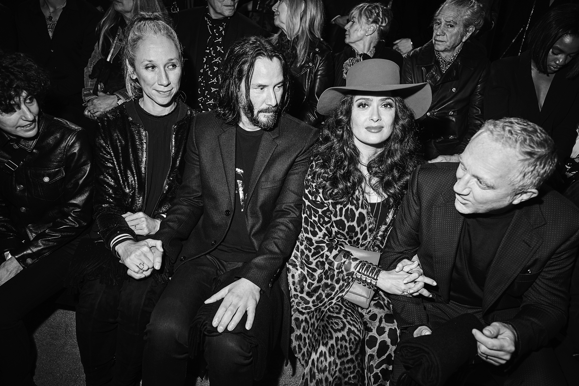Saint Laurent Men's Spring 2020 Fashion Show front Row ...
