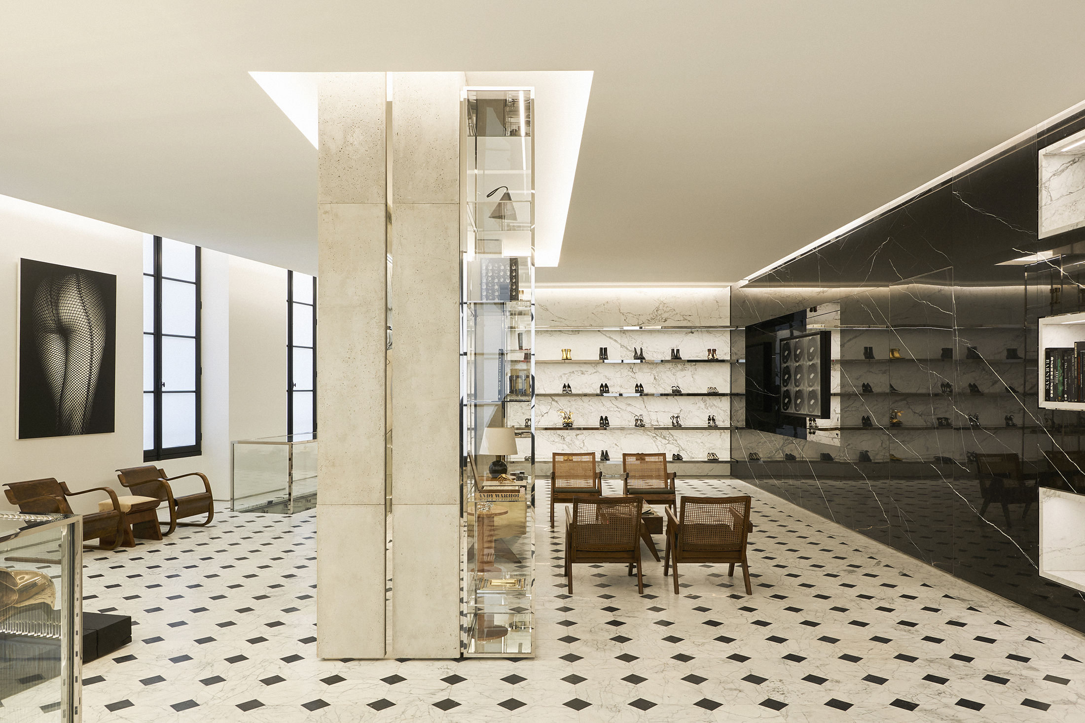 Saint Laurent Opens Rive Droite Shop curated by Anthony Vaccarello