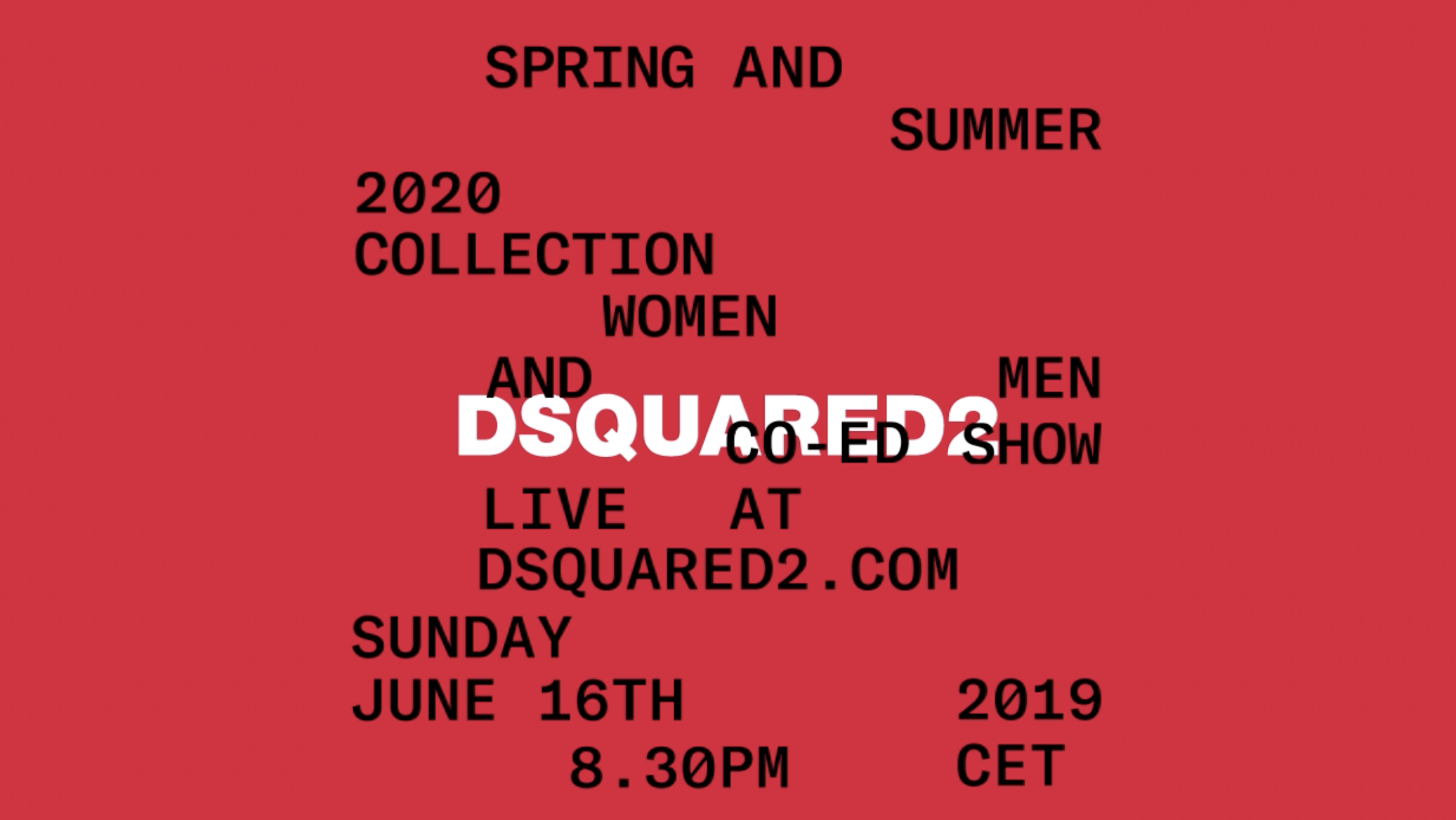 Watch Dsquared2's Spring 2020 Runway Show Live from Milan