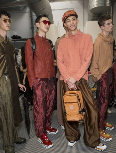 Emporio Armani Spring 2020 Men's Fashion Show Backstage