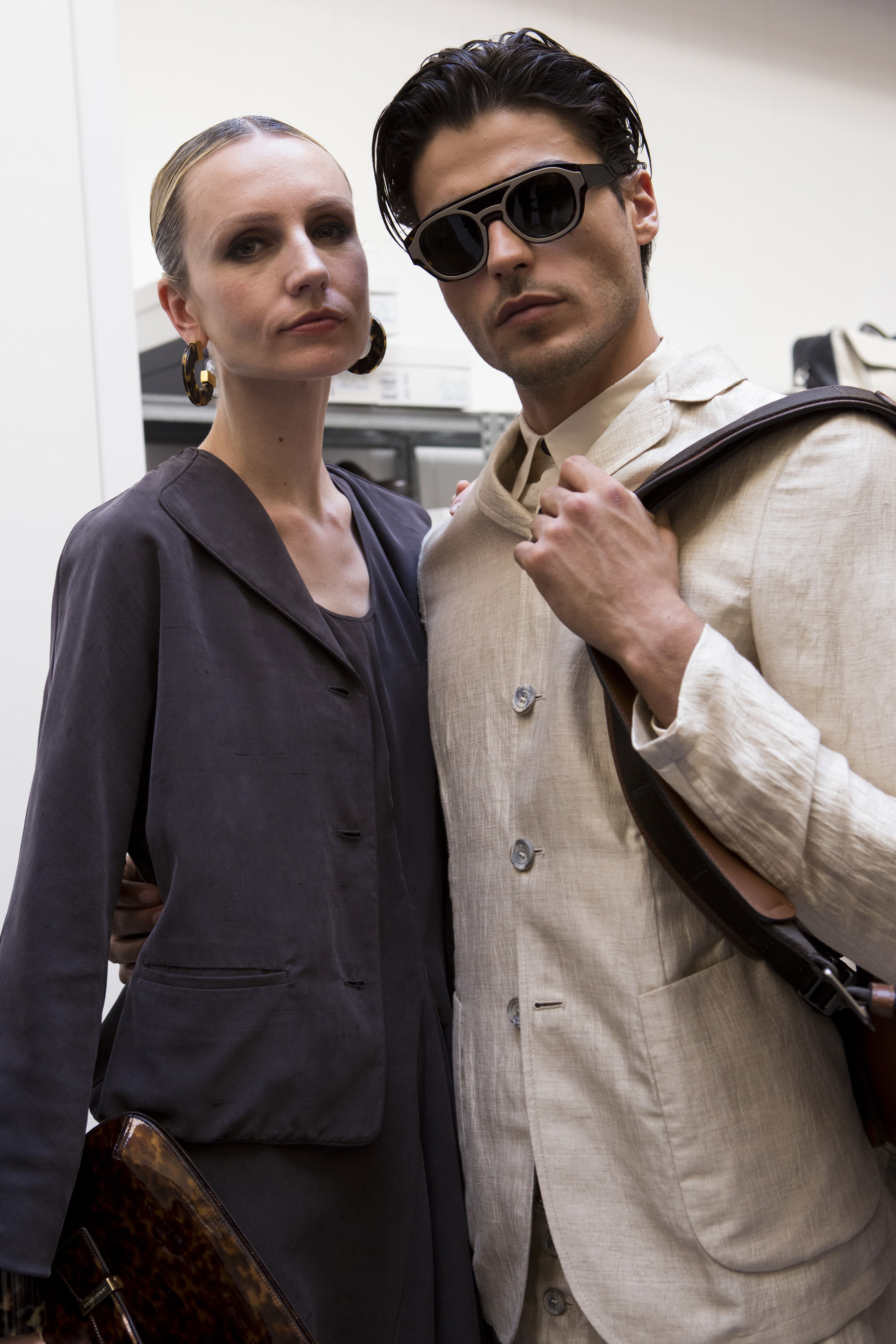 Giorgio Armani Spring 2020 Men's Fashion Show Backstage